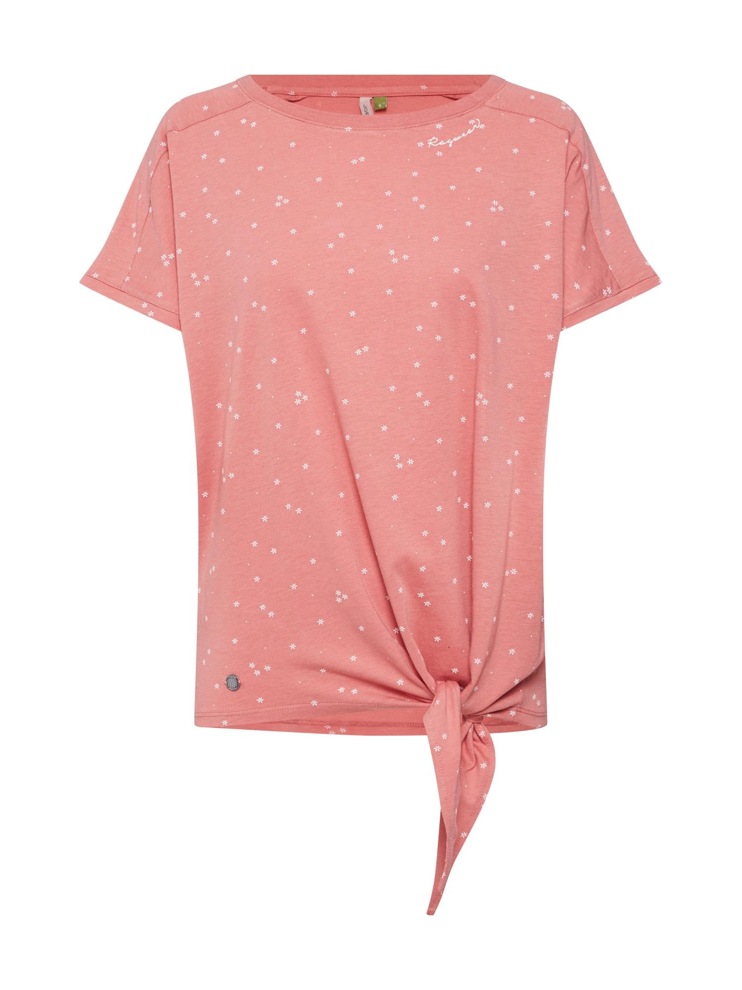 Tričko Bolivia pastelově červená bílá Ragwear