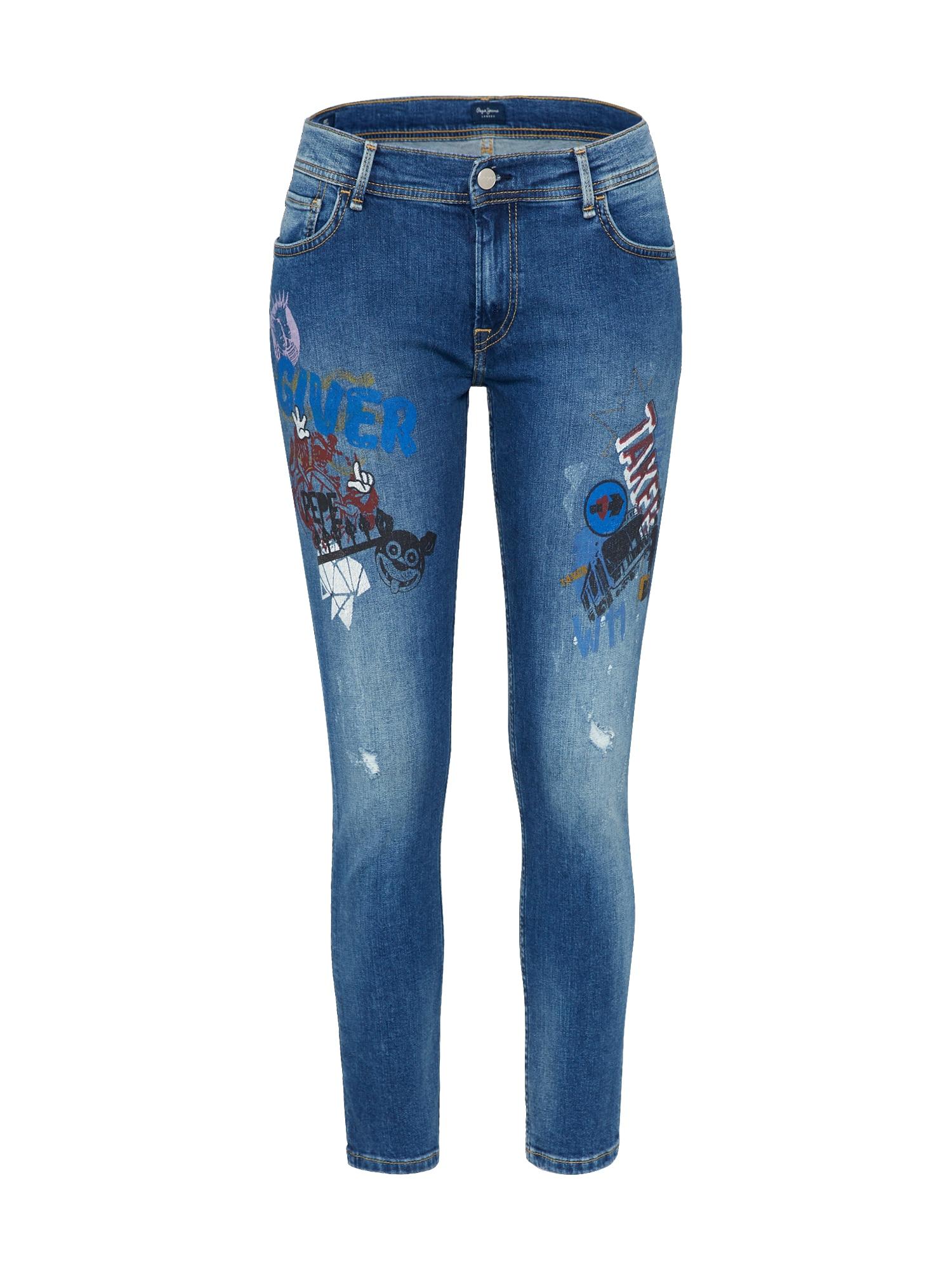 Pepe Jeans Dames Jeans JOEY CARTOON blue denim