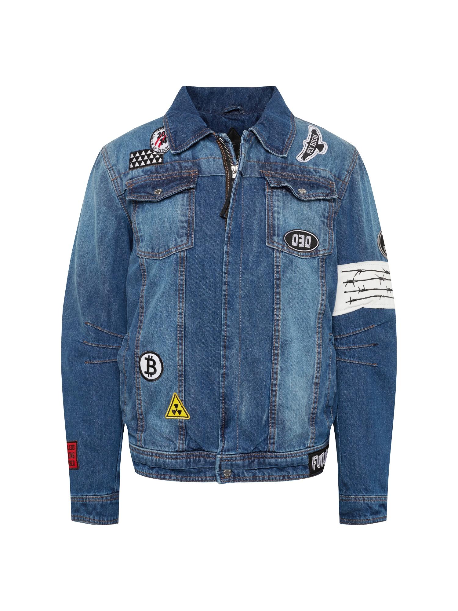 Přechodná bunda BEdusty D modrá džínovina BE EDGY