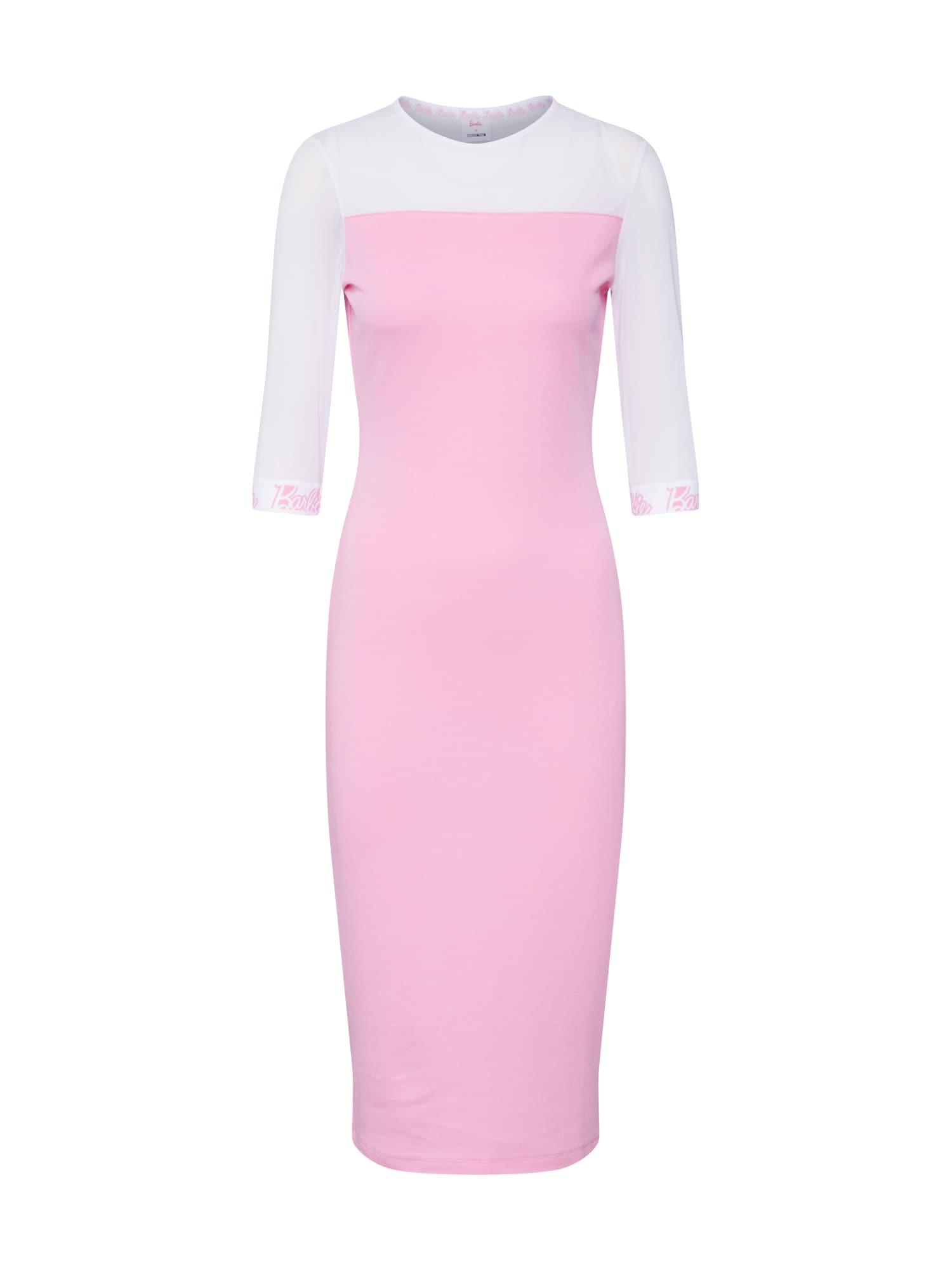 Šaty Soraya pink bílá ABOUT YOU X Barbie