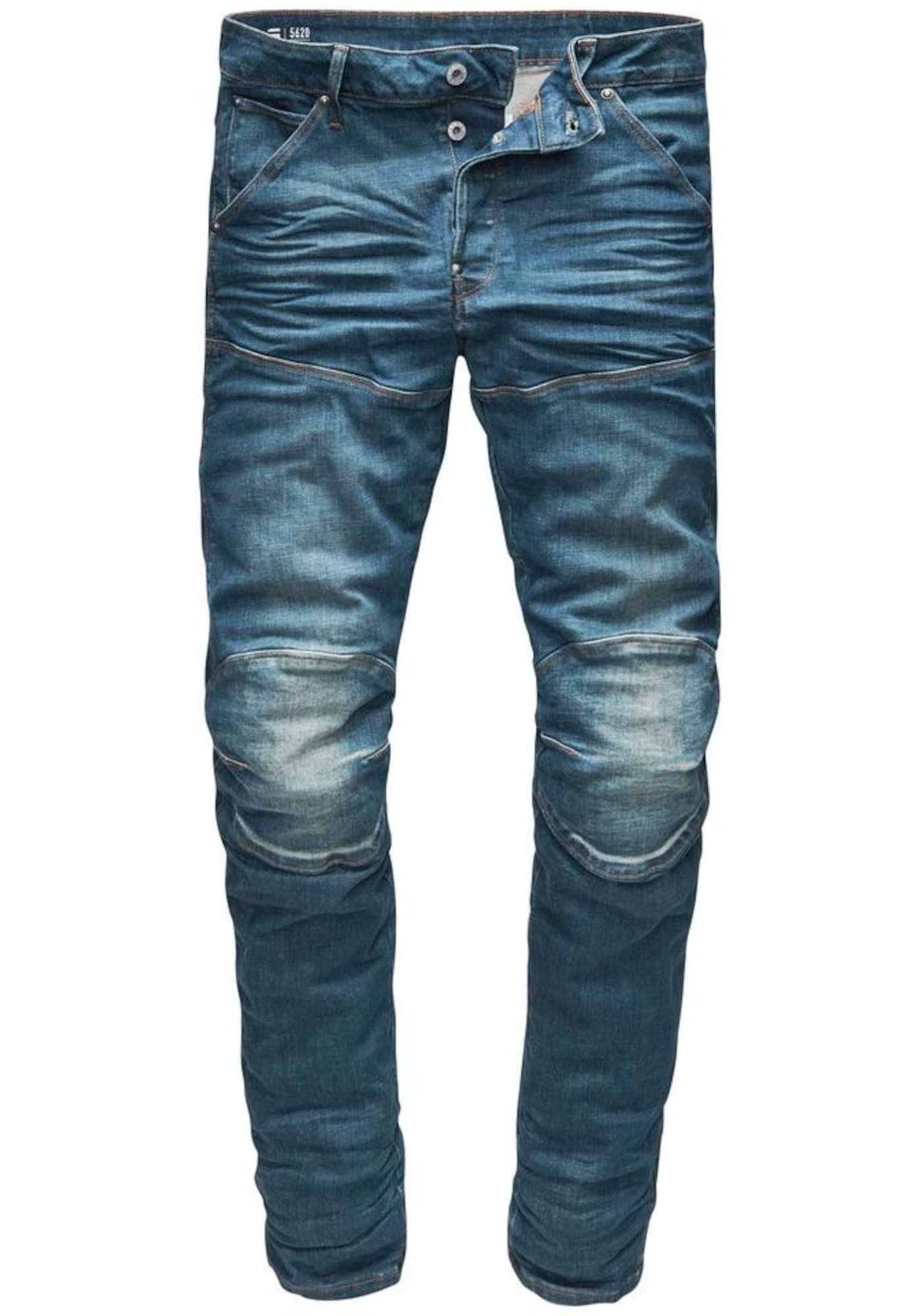 G-STAR RAW Heren Jeans Elwood 5620 3D Slim blue denim