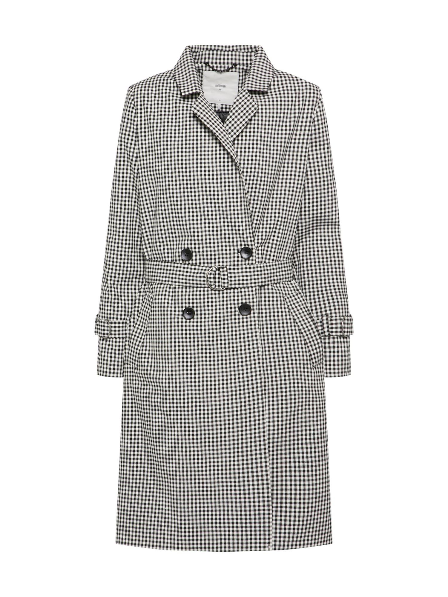 Přechodný kabát Zophie černá bílá Minimum