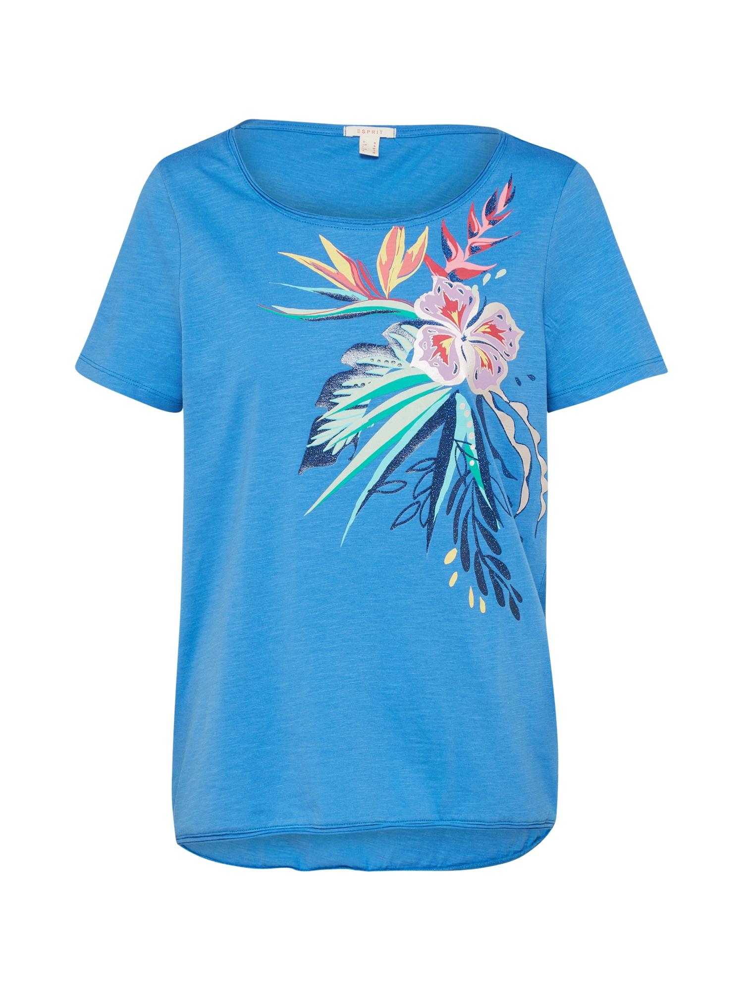 Tričko Tropical Tee nebeská modř mix barev ESPRIT