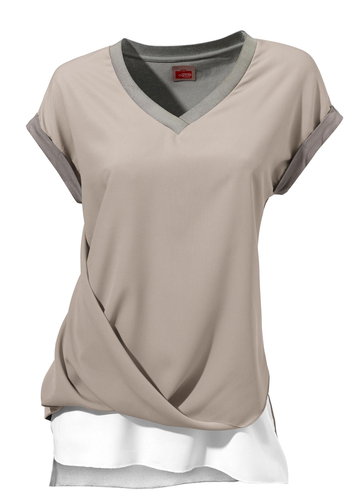 Oversized tričko barvy bláta Heine