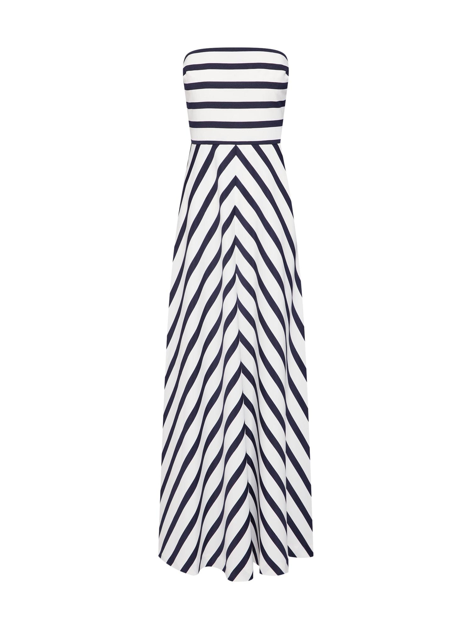 Společenské šaty BELLEMORE námořnická modř bílá Lauren Ralph Lauren