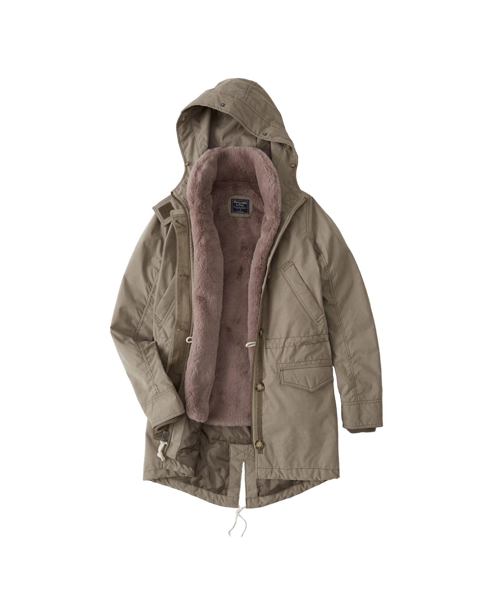 Zimní bunda PARKA DTC EXT šedá Abercrombie & Fitch
