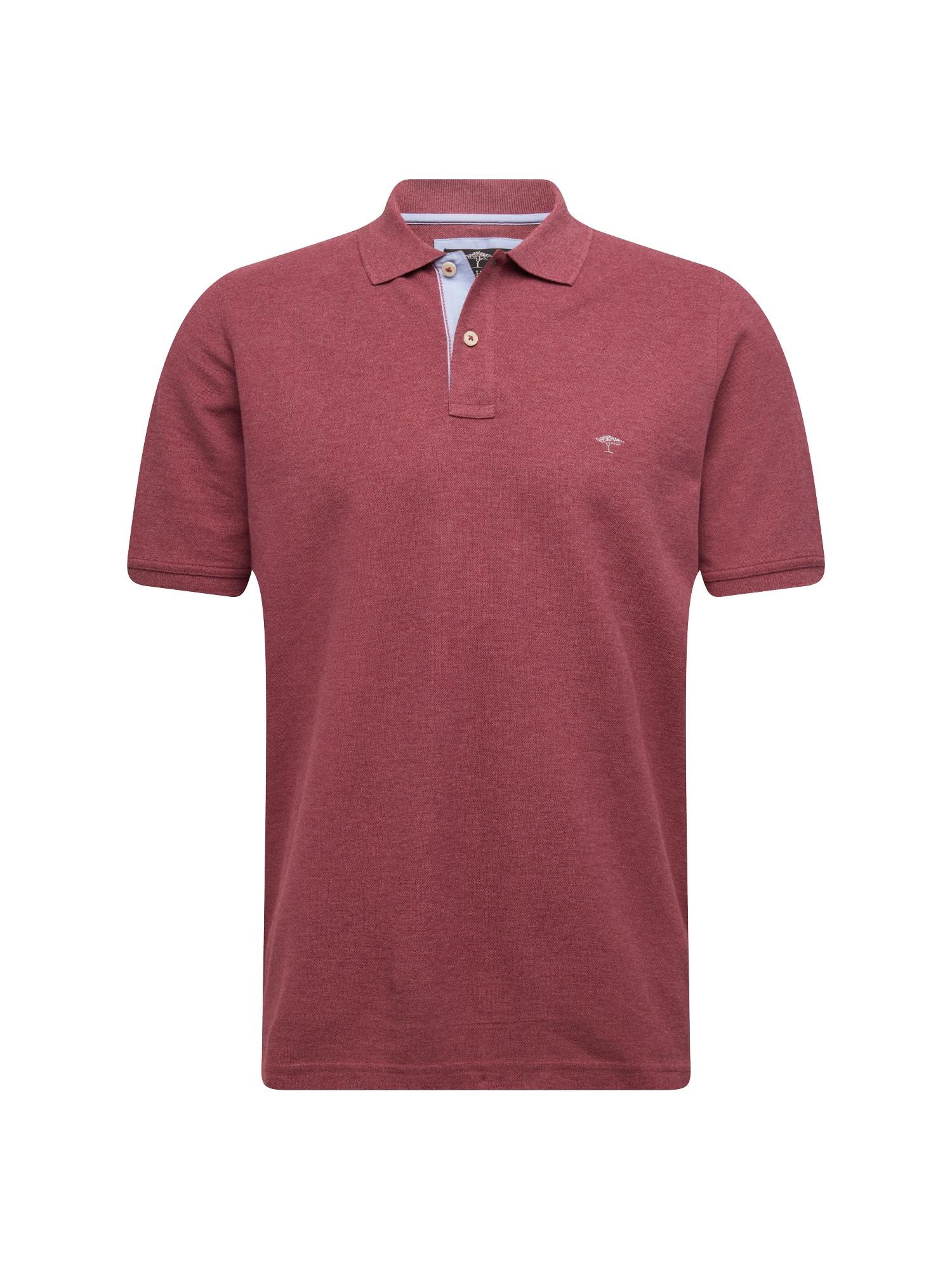 Tričko Polo Melange vínově červená FYNCH-HATTON