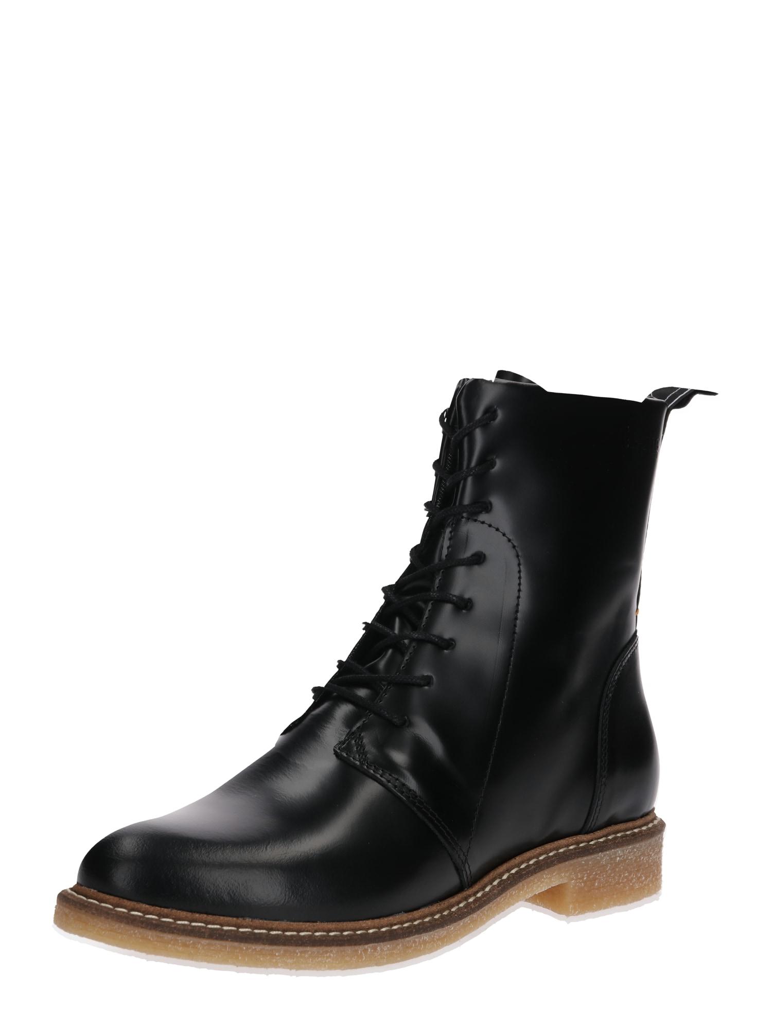 Šněrovací boty Vagos černá HUB