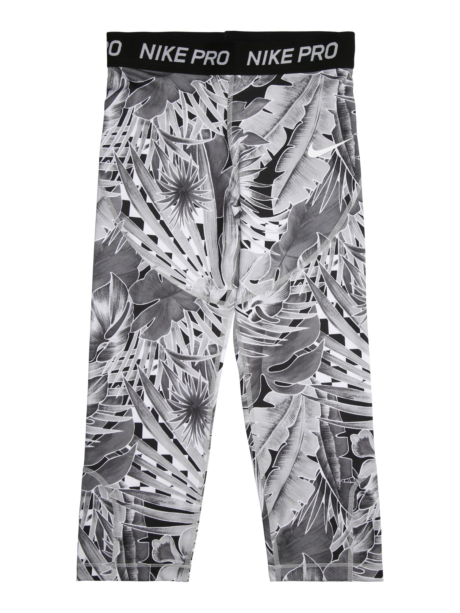 Sportovní kalhoty G NP CAPRI AOP1 šedá bílá NIKE