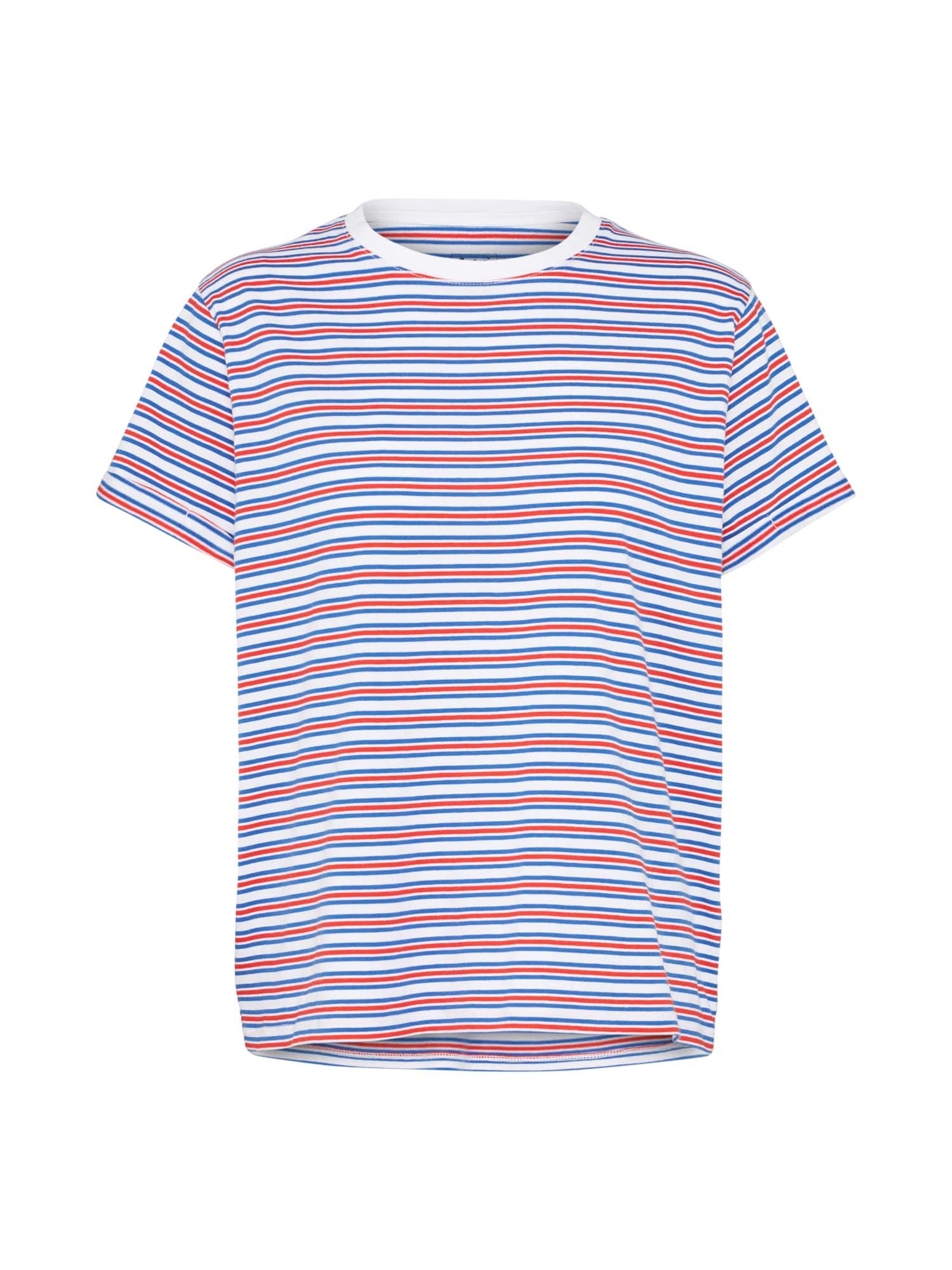 Lee Dames Shirt STRIPE blauw rood wit