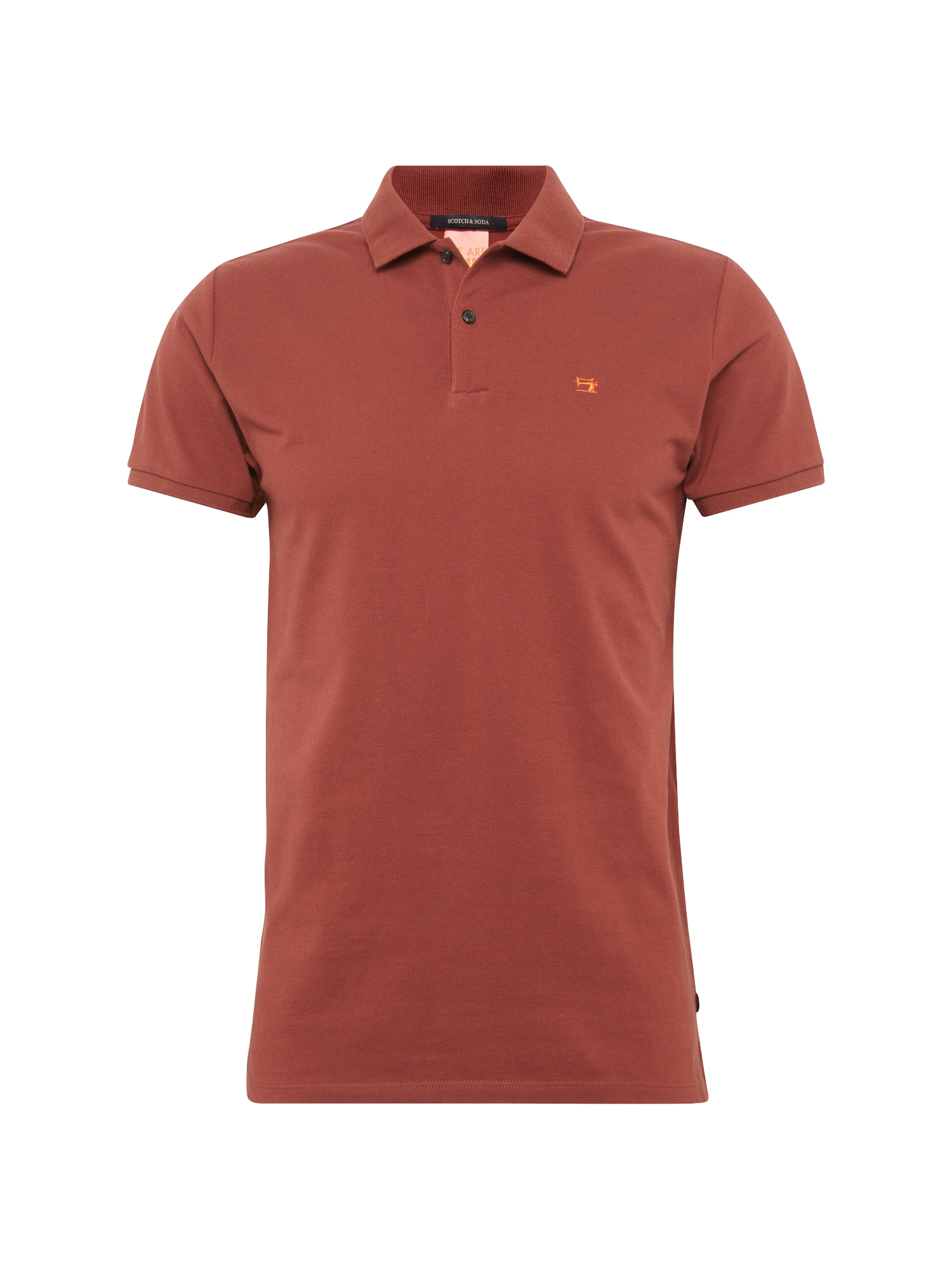 SCOTCH  and  SODA Heren Shirt Classic clean pique polo roestrood