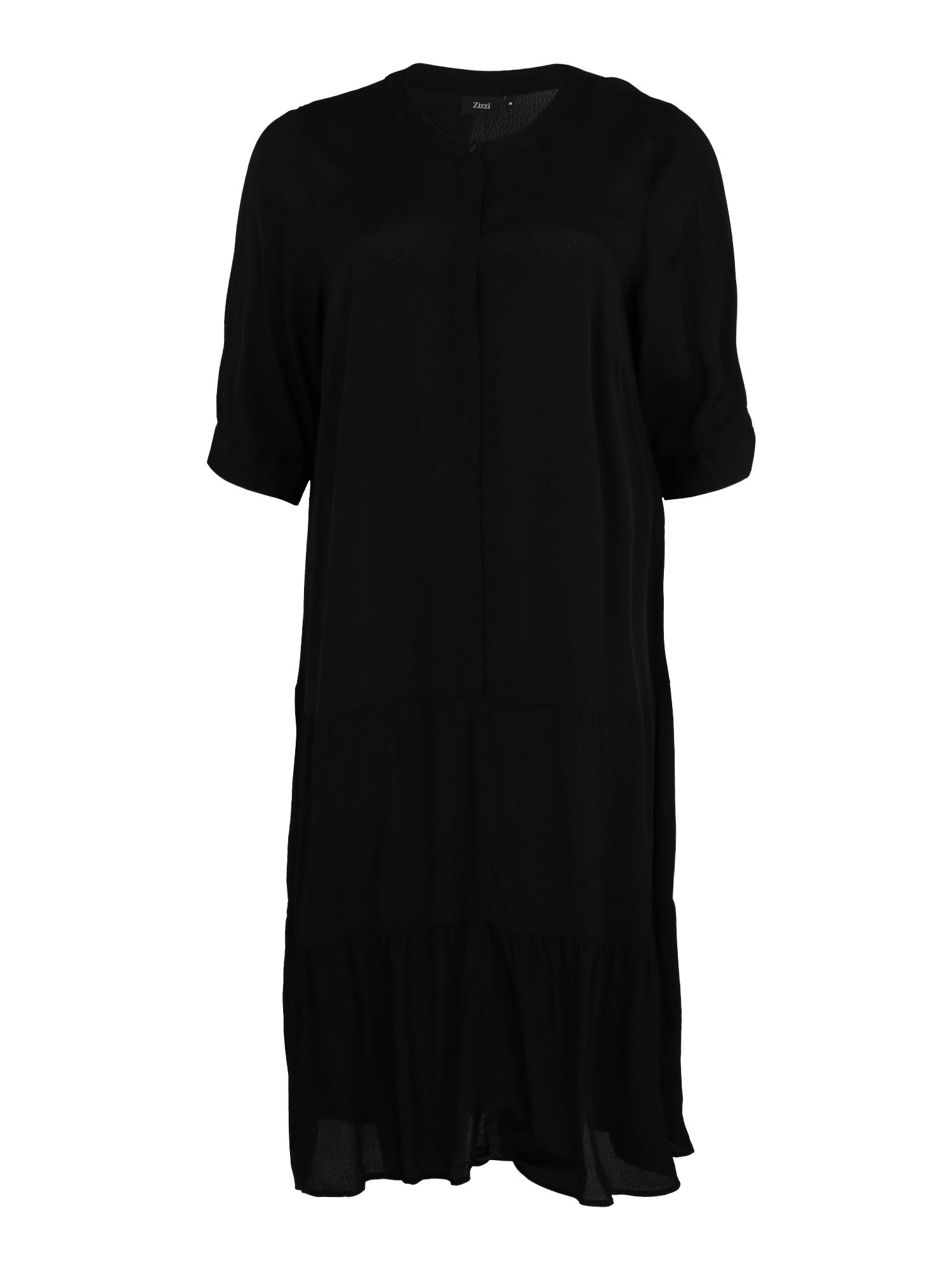 Košilové šaty DASY černá Zizzi