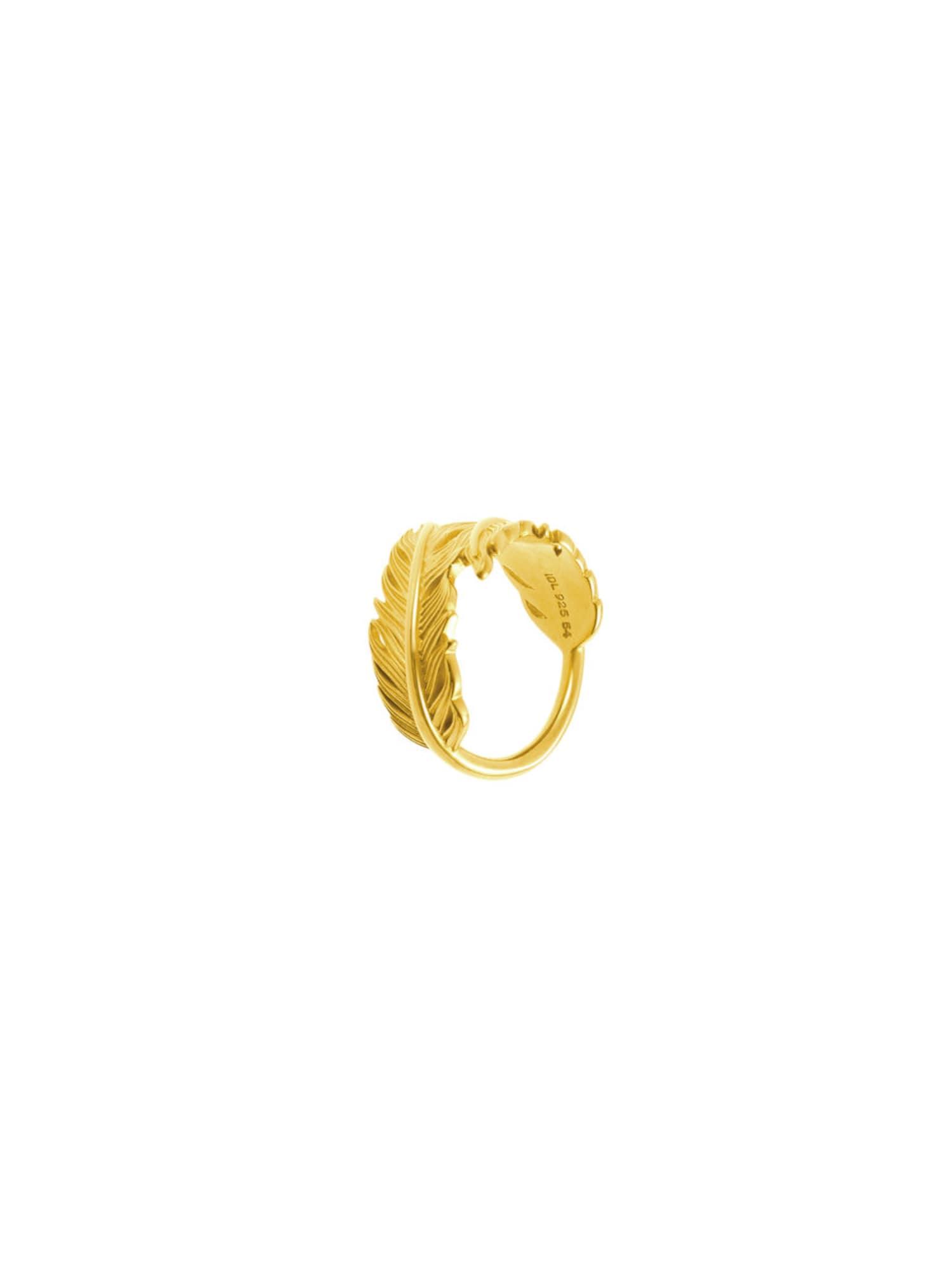 ID Fine, Dames Ring 'Feder', goud