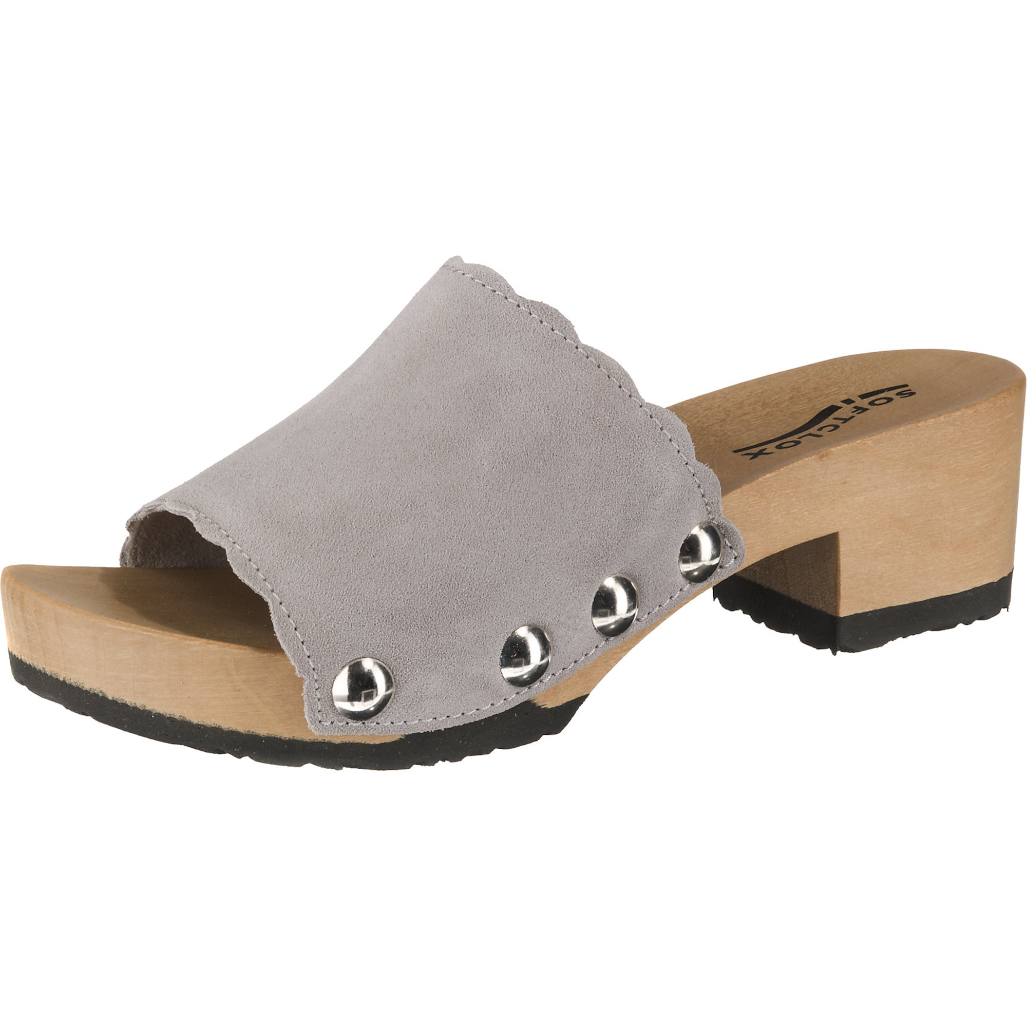 Clogs 'Pabla' | Schuhe > Clogs & Pantoletten > Clogs | Grau | SOFTCLOX