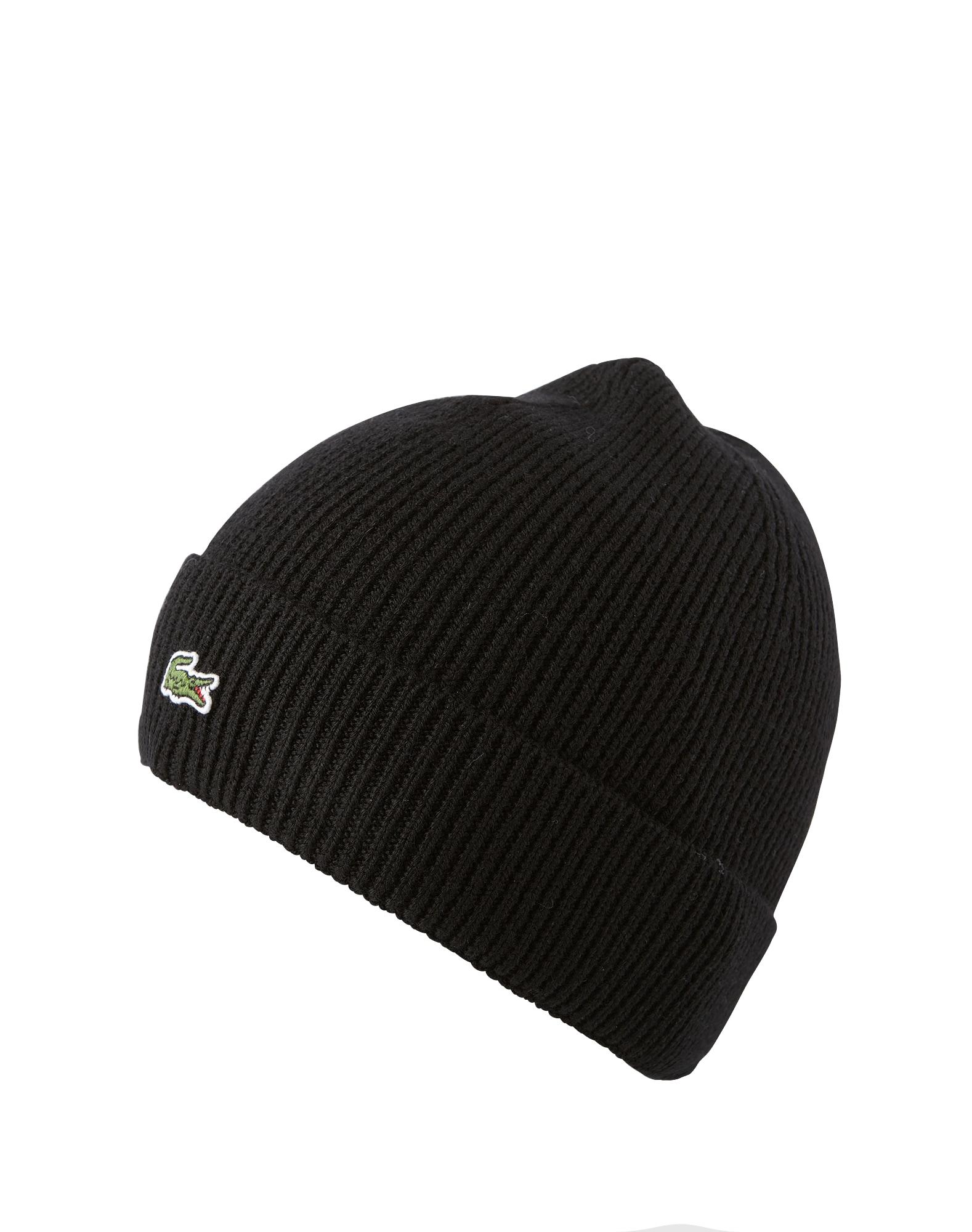 Lacoste Knitted Logo Beanie - Zwart - Heren