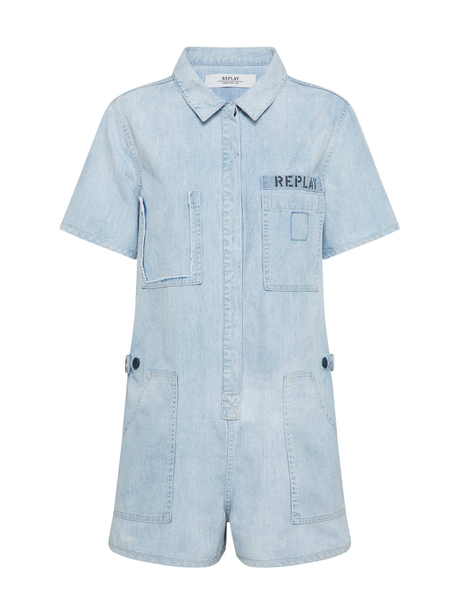 REPLAY Dames Jumpsuit blue denim