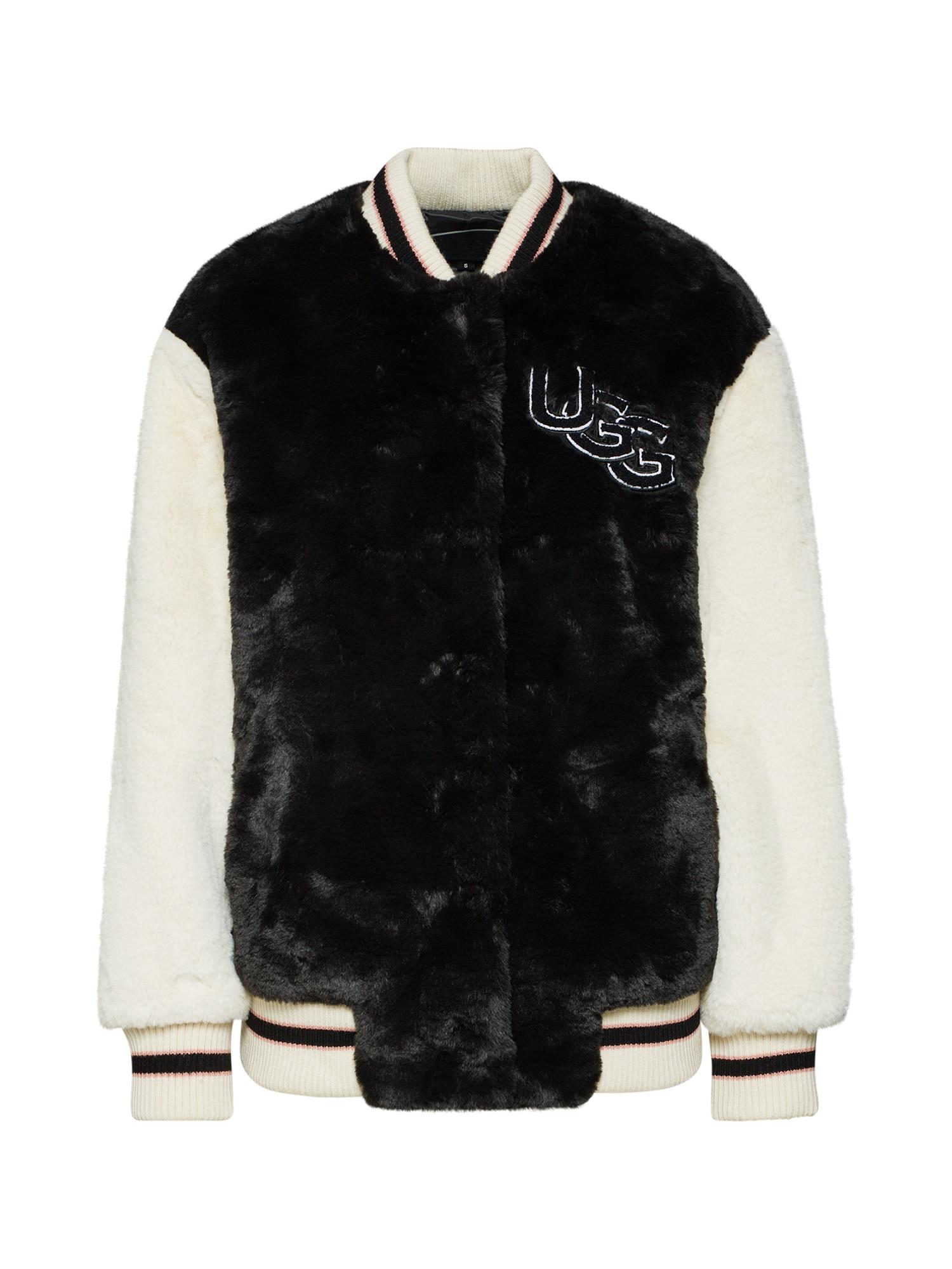 UGG Prechodná bunda  krémová / čierna