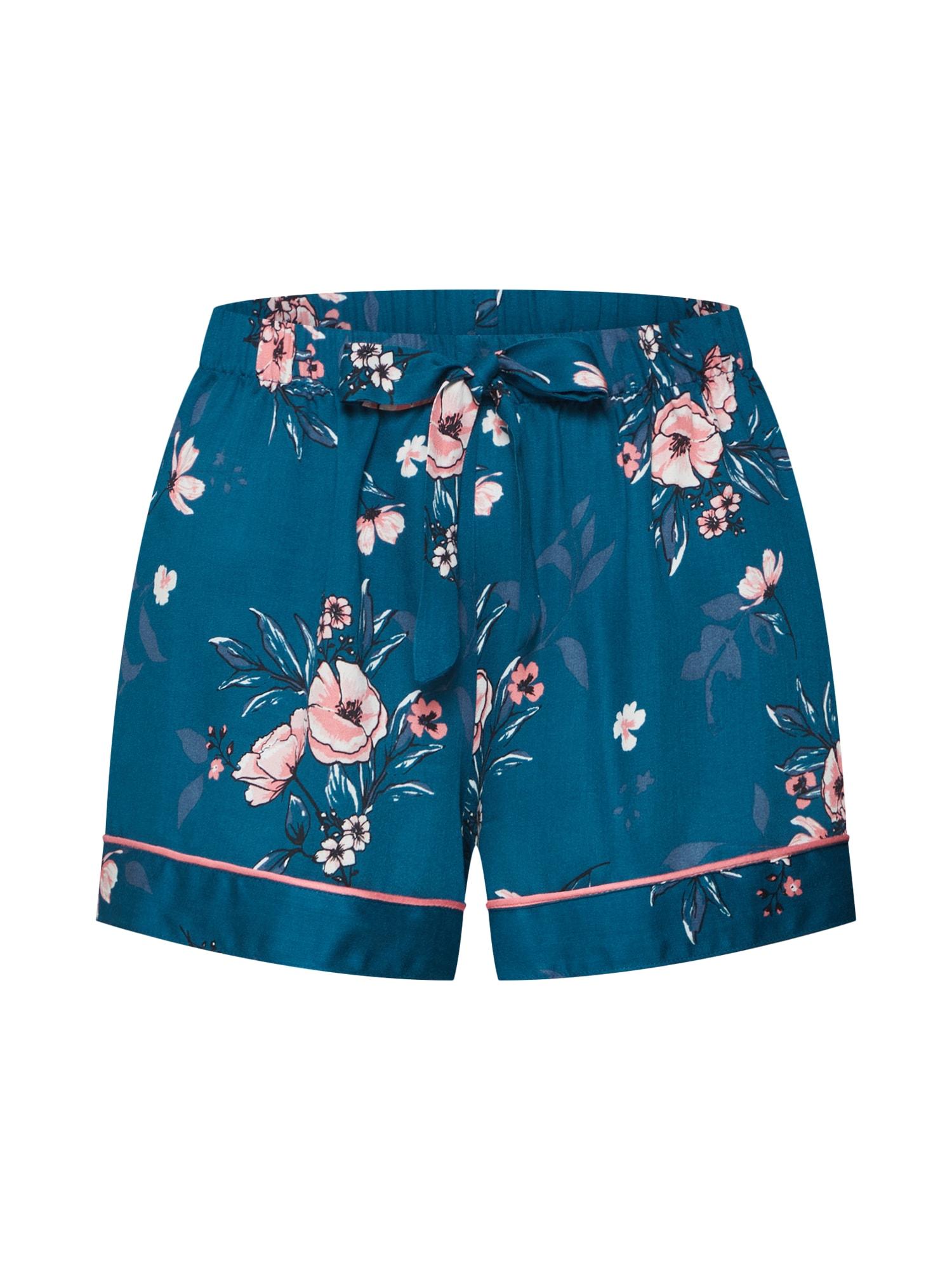 Pyžamové kalhoty Woven Rose modrá Hunkemöller