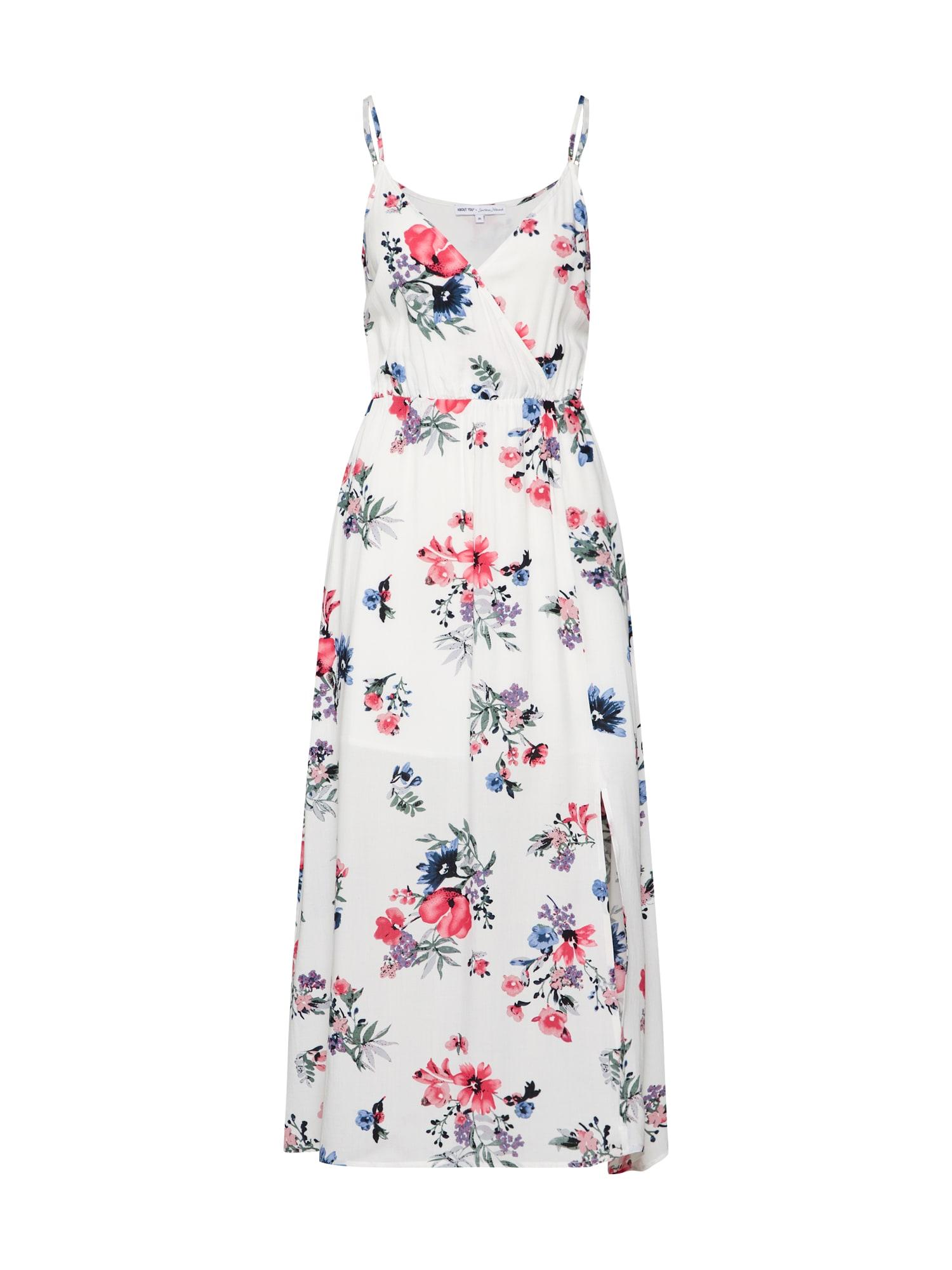 Letní šaty Lana mix barev bílá ABOUT YOU X Sarina Nowak
