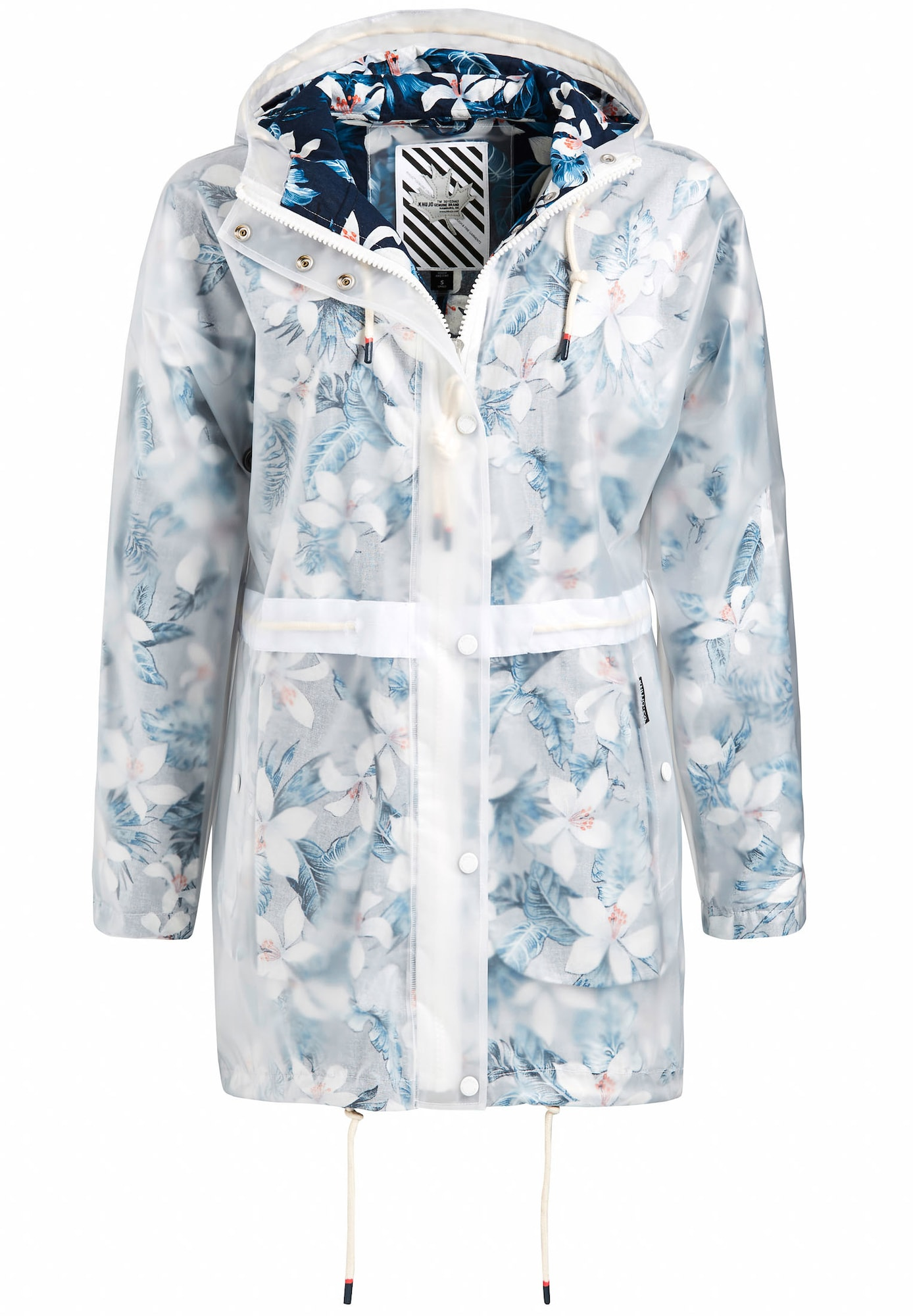 Funkční kabát Iracema modrá bílá Khujo