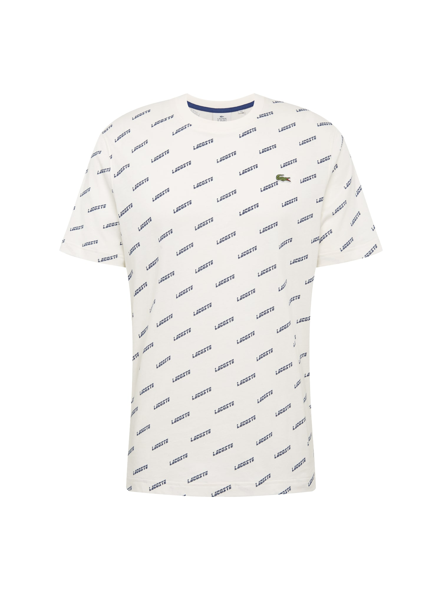 Tričko TEE-SHIRT noční modrá bílá Lacoste LIVE