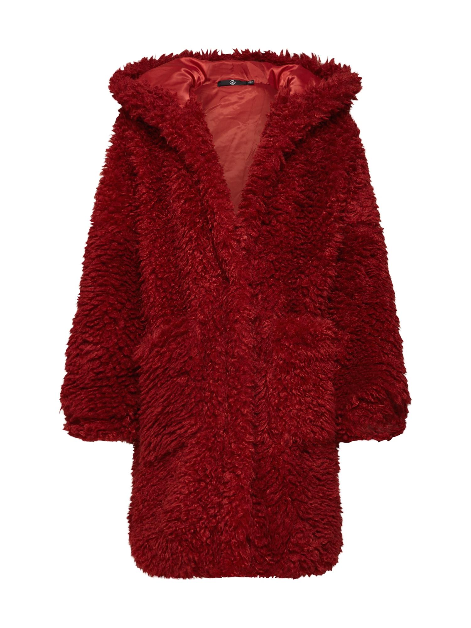 Zimní kabát červená Missguided