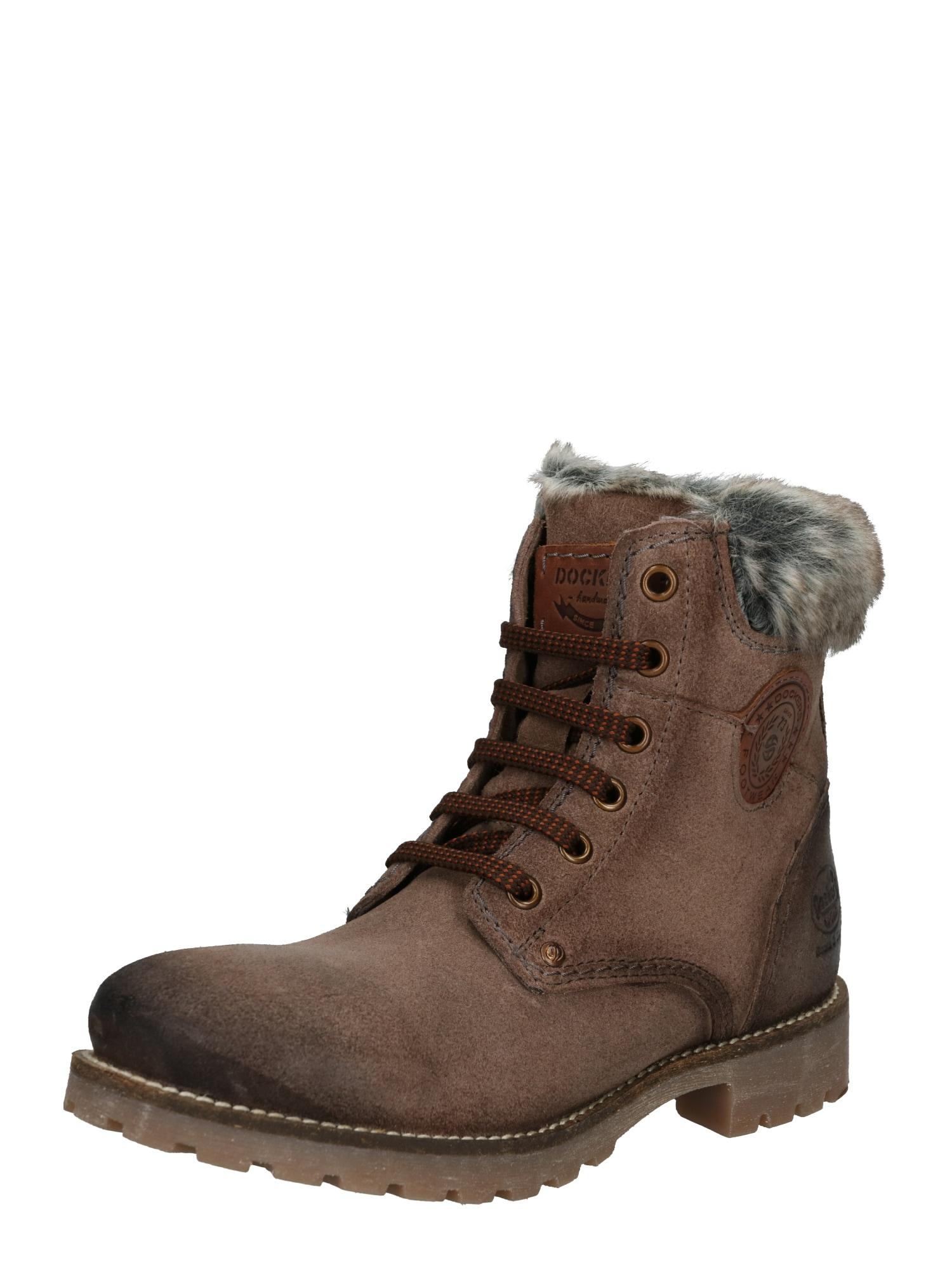 Šněrovací boty šedobéžová Dockers By Gerli
