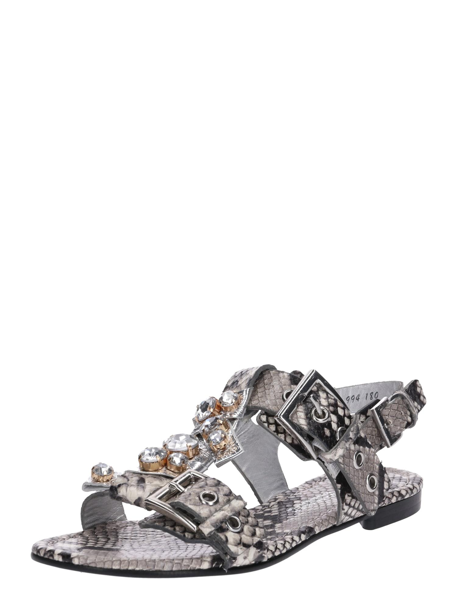 Sandály Elle šedá stříbrná Kennel & Schmenger