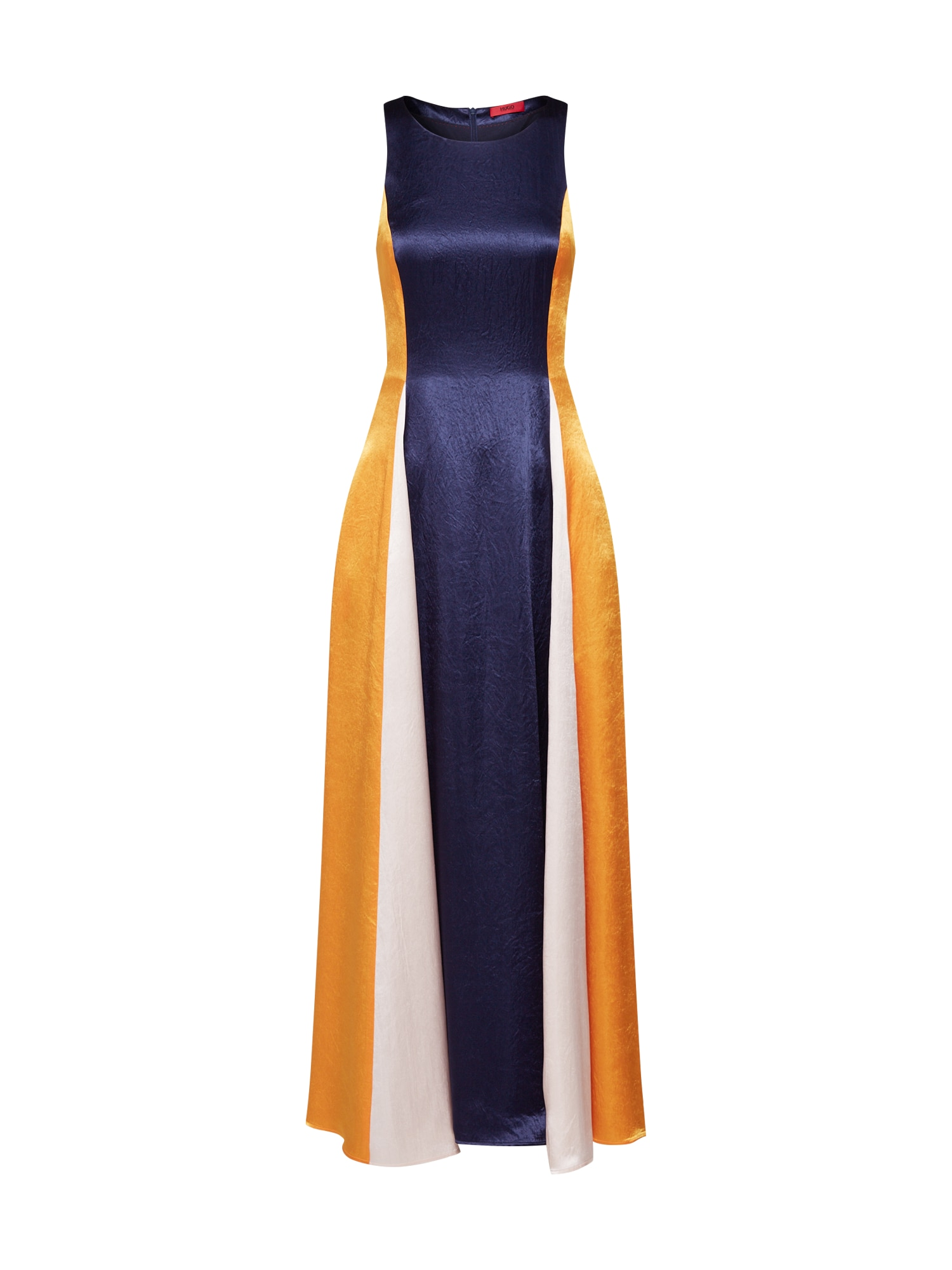 Společenské šaty Kanisi béžová modrá jasně oranžová HUGO