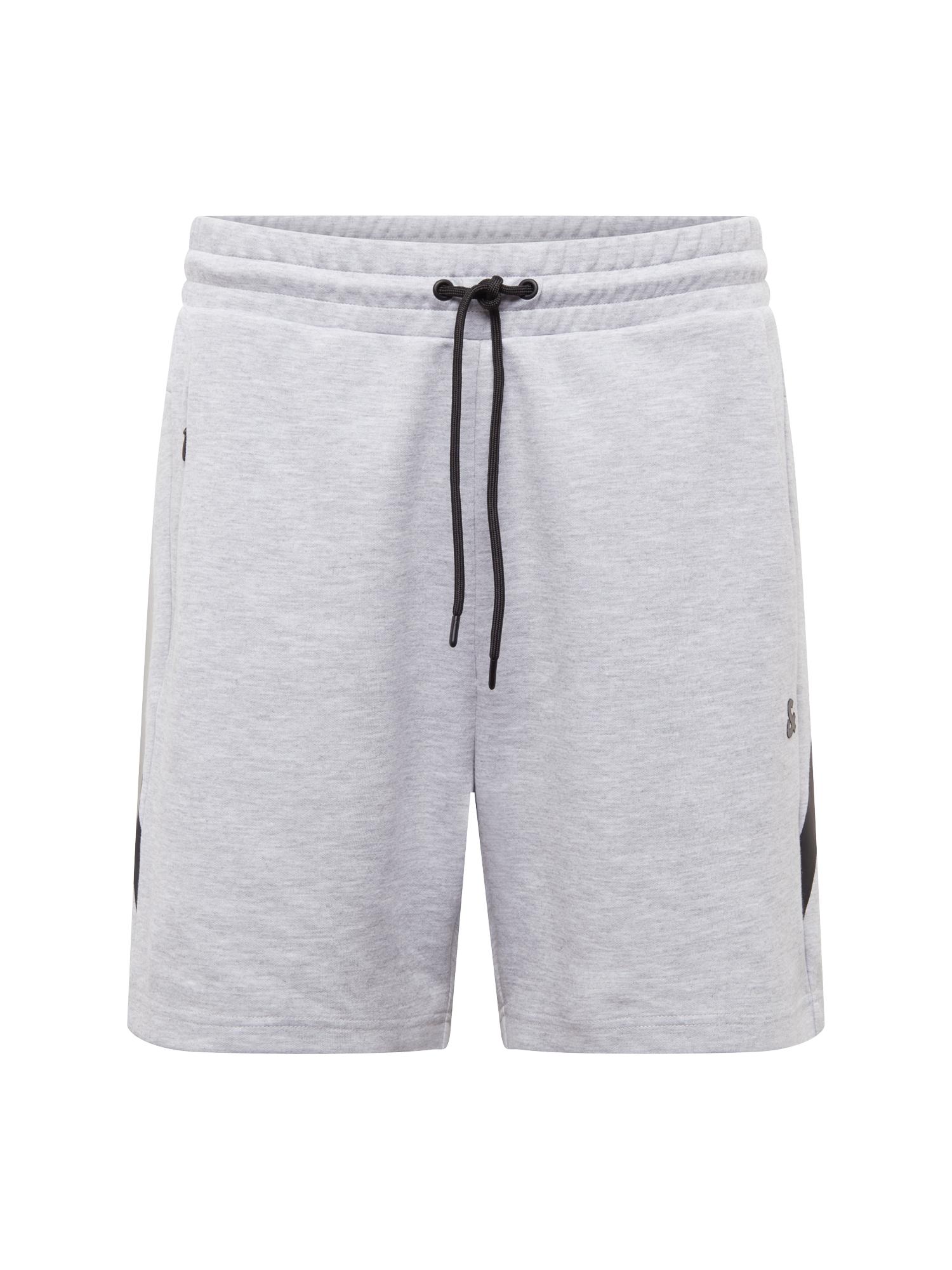 Kalhoty šedý melír černá JACK & JONES