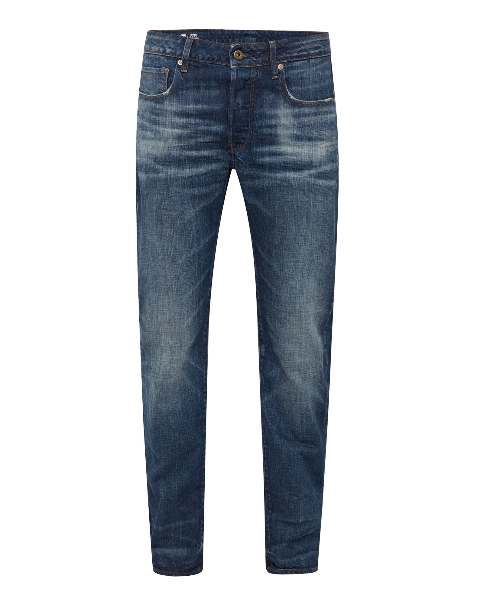 G-STAR RAW Heren Jeans 3301 Straight blue denim