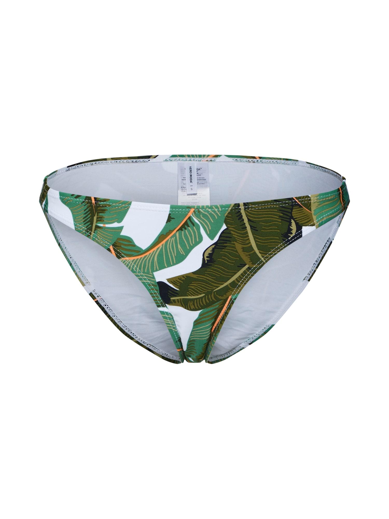 Spodní díl plavek NATURE zelená VERO MODA