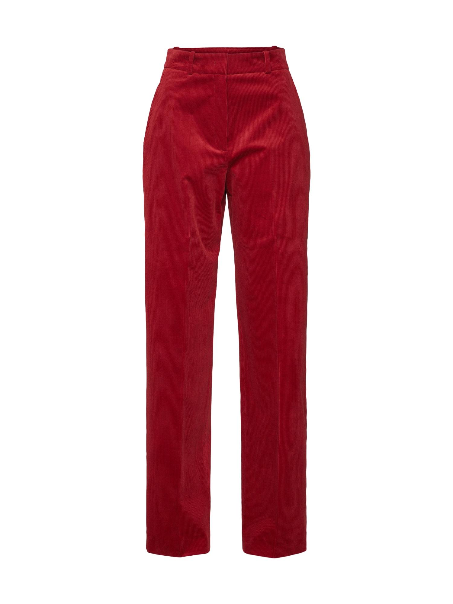 Kalhoty Henaki červená HUGO
