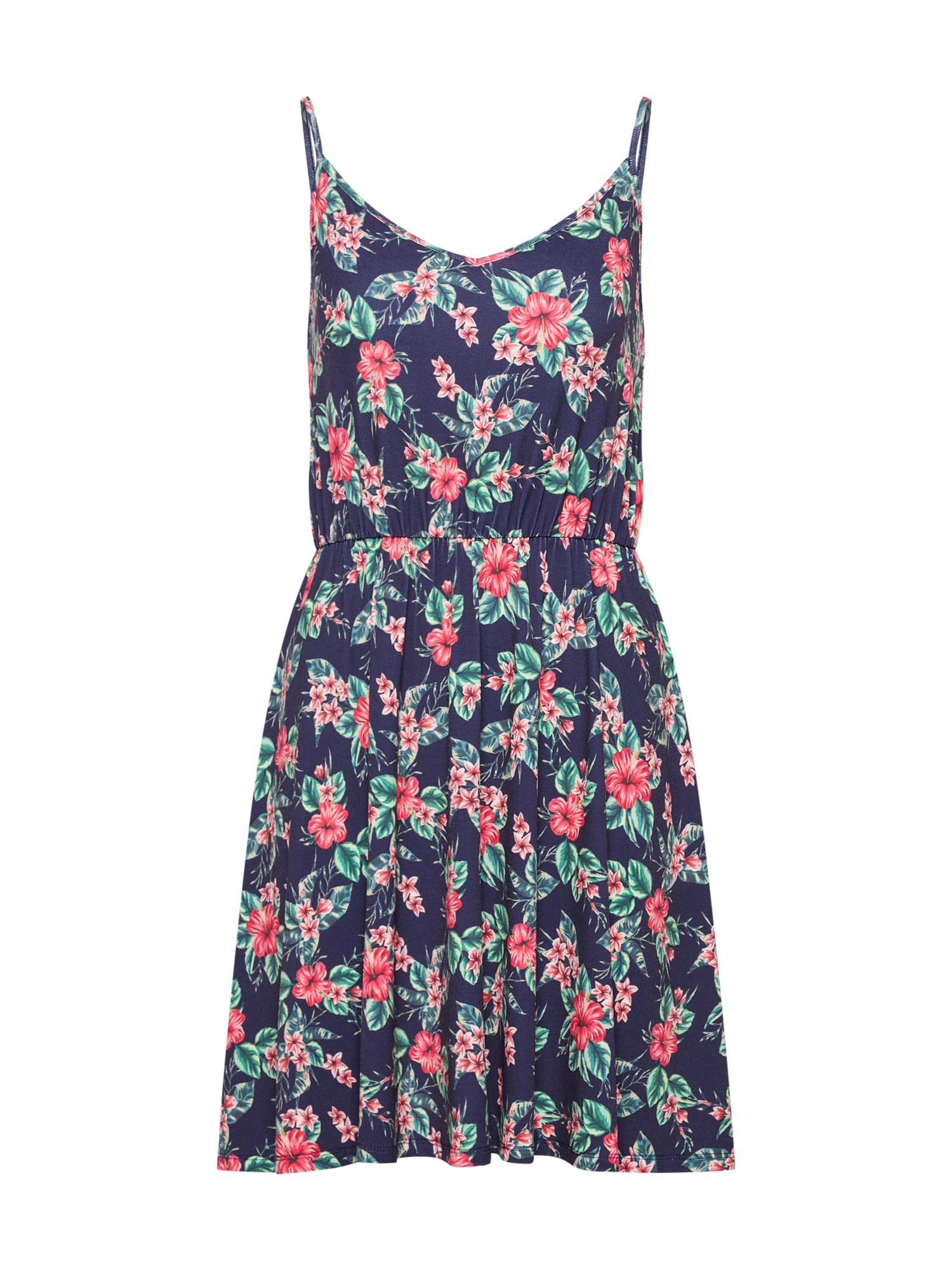 ABOUT YOU Zomerjurk 'Nicoletta' navy / mintgroen / vuurrood