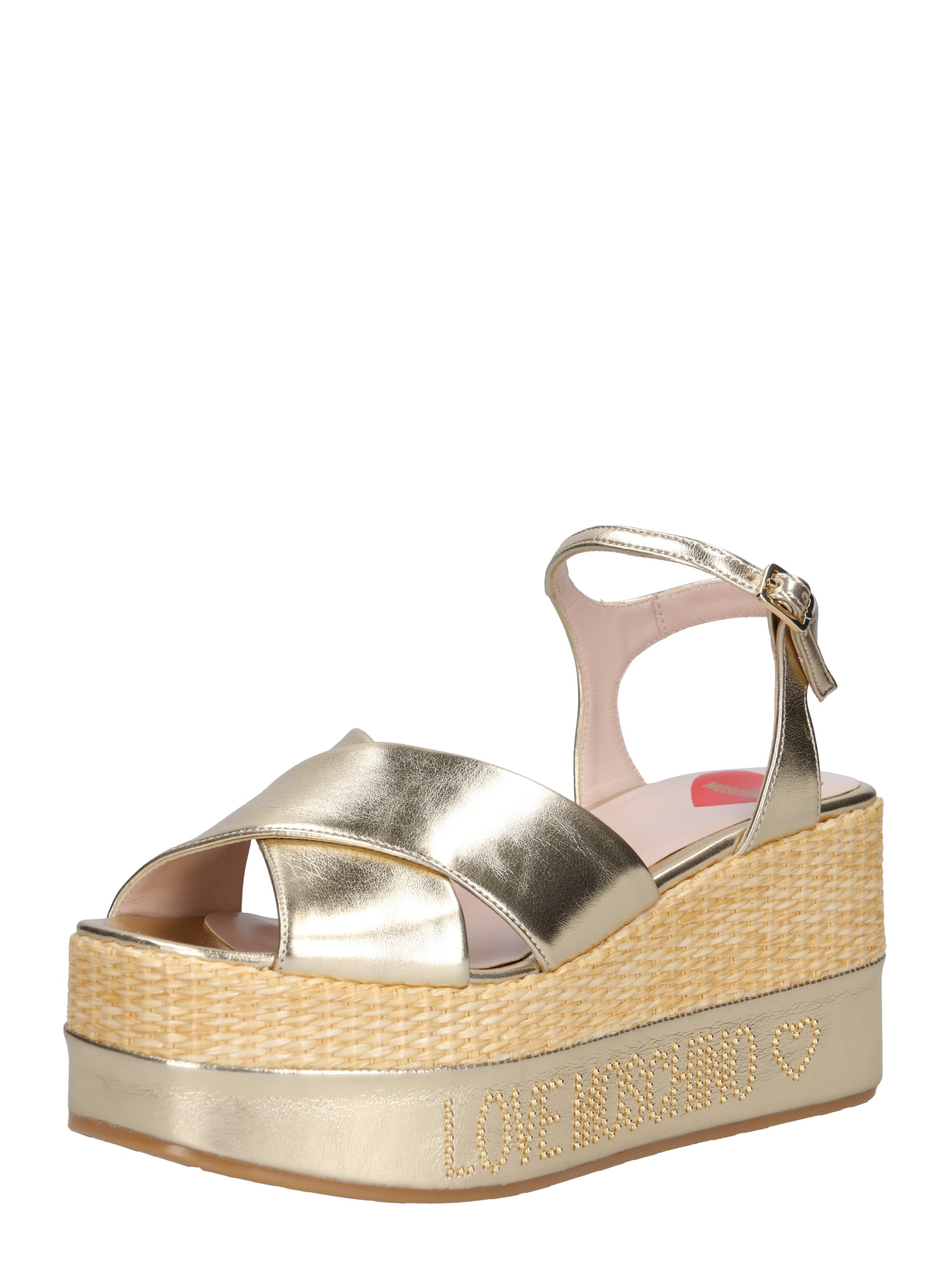 Páskové sandály JA16198IO7 JCP 900 zlatá Love Moschino