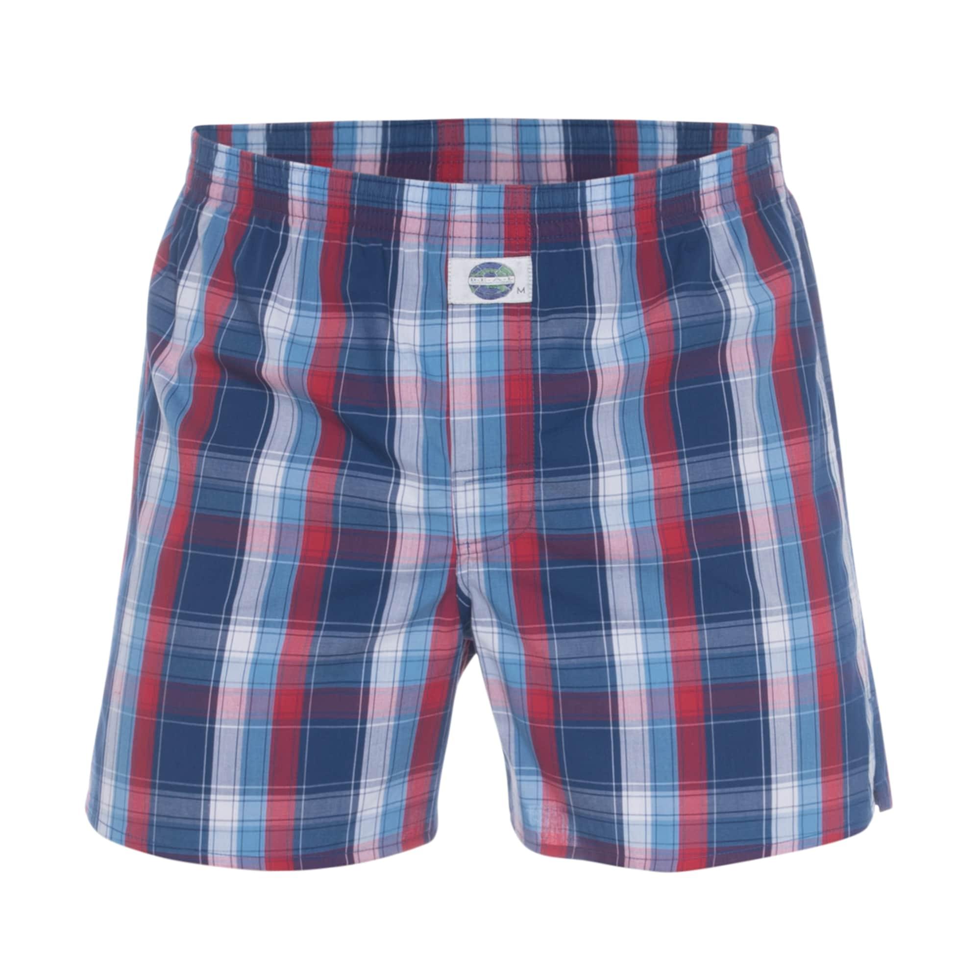 Boxerky Check modrá červená D.E.A.L International
