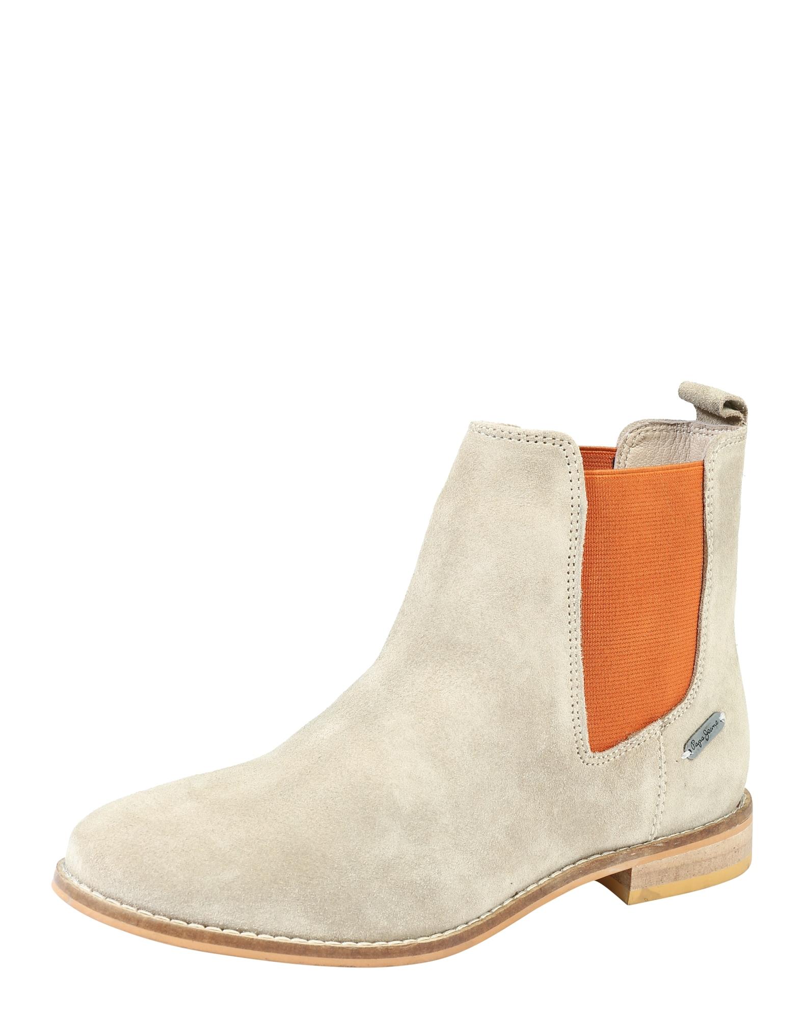 Pepe Jeans Dames Chelsea boots Galp sand donkeroranje