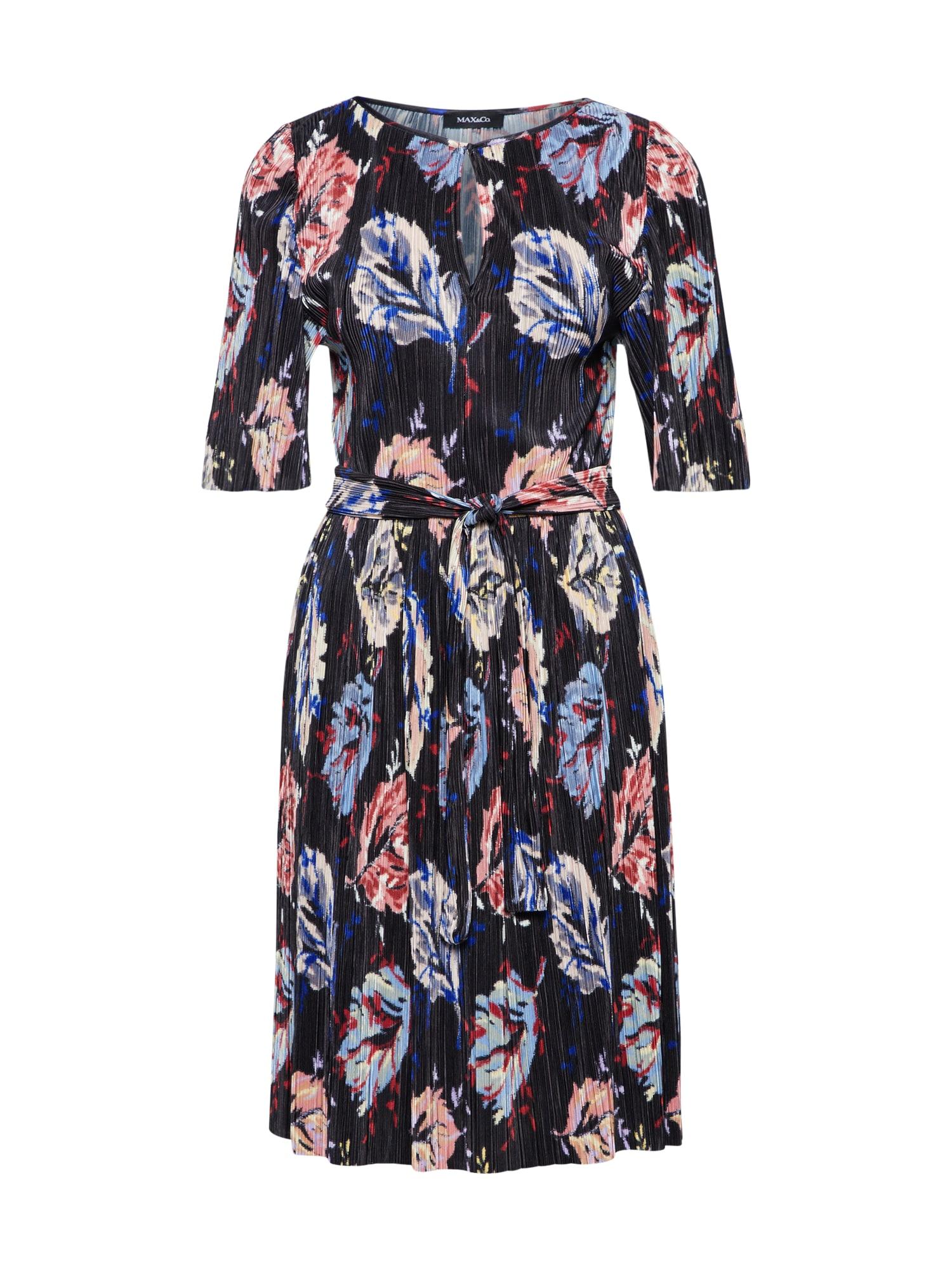 MAX&Co. Sukienka koktajlowa 'PIUMA'  kremowy / niebieska noc / jasnoczerwony / czarny