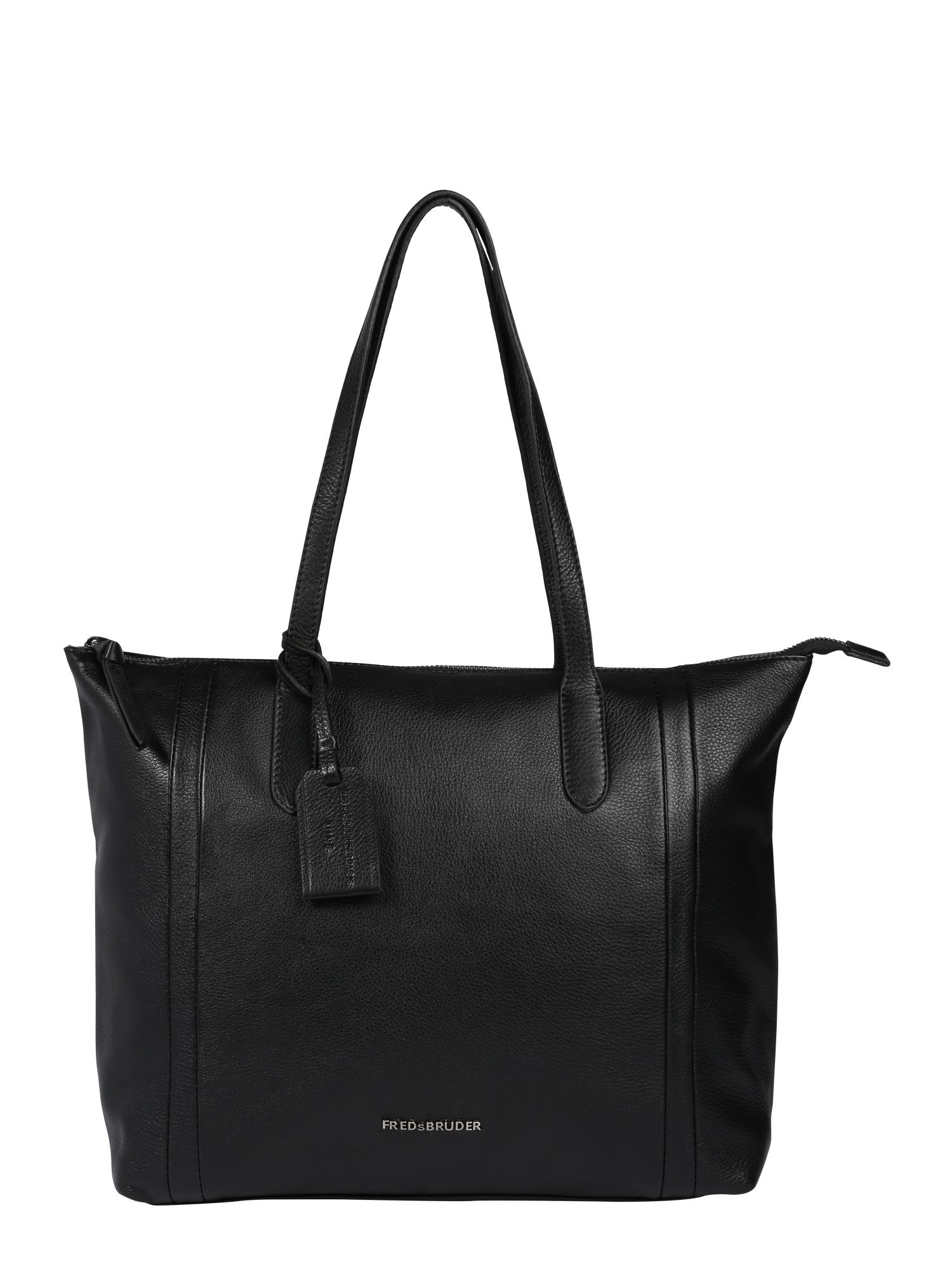 Nákupní taška Yolano černá FREDsBRUDER