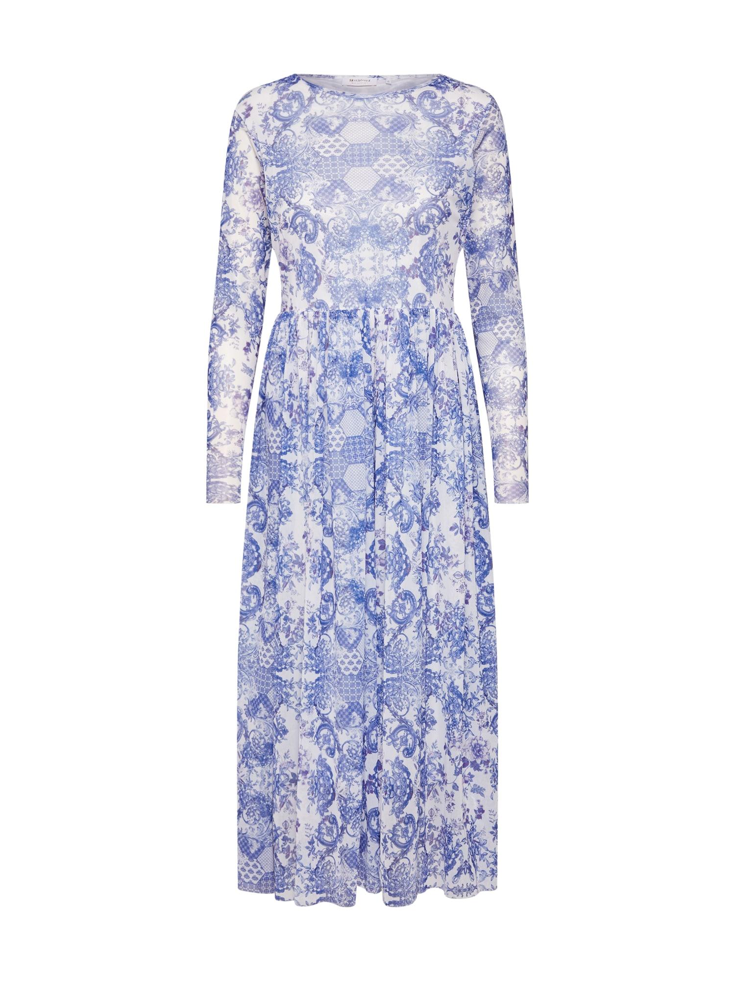 Šaty modrá mix barev bílá Rich & Royal