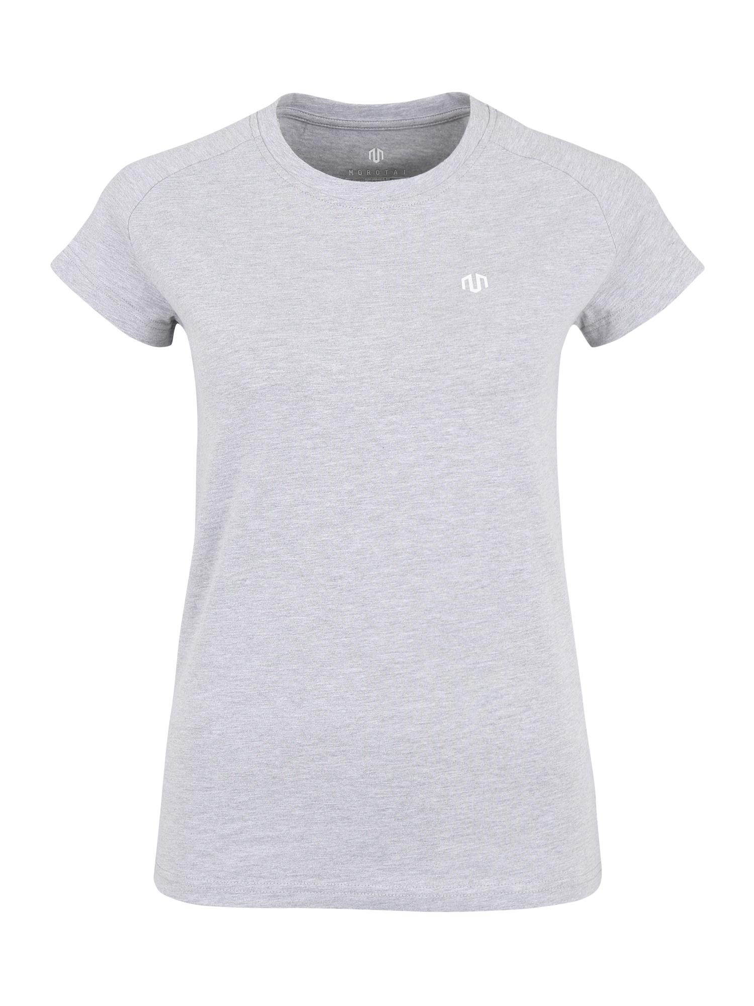 Funkční tričko PREMIUM světle šedá bílá MOROTAI