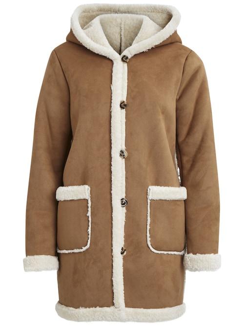 - Stylename: VIAVA COAT - Warmer Wintermantel in Lammfell-Optik - Weiches Material - Vordere Taschen - Knopfleiste - Große Kapuze - Länge: 87 cm in Größe M - Armlänge: 65 cm - Unser Modell ist 178