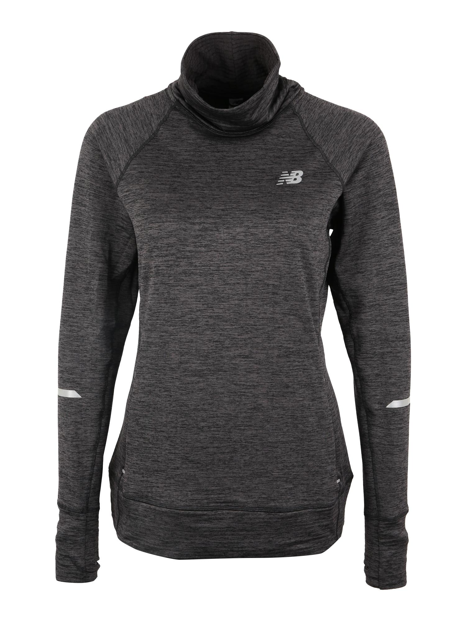 Sportovní svetr WT83246 tmavě šedá černá New Balance