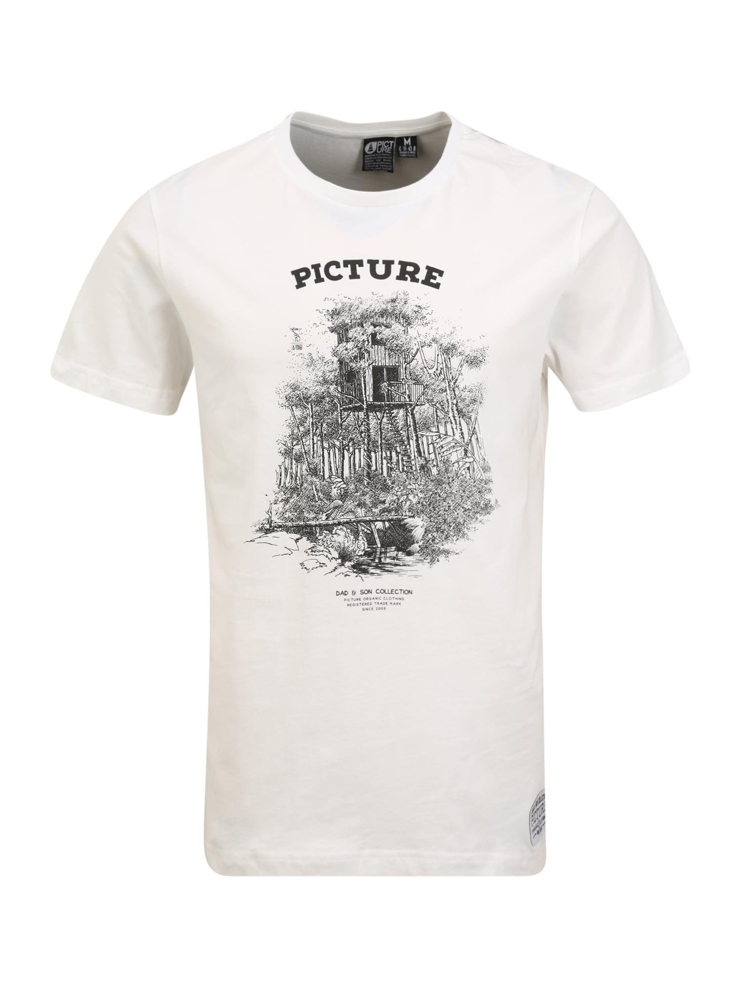 Picture Organic Clothing Tričko 'DAD&SON CABIN TEE'  černá / bílá