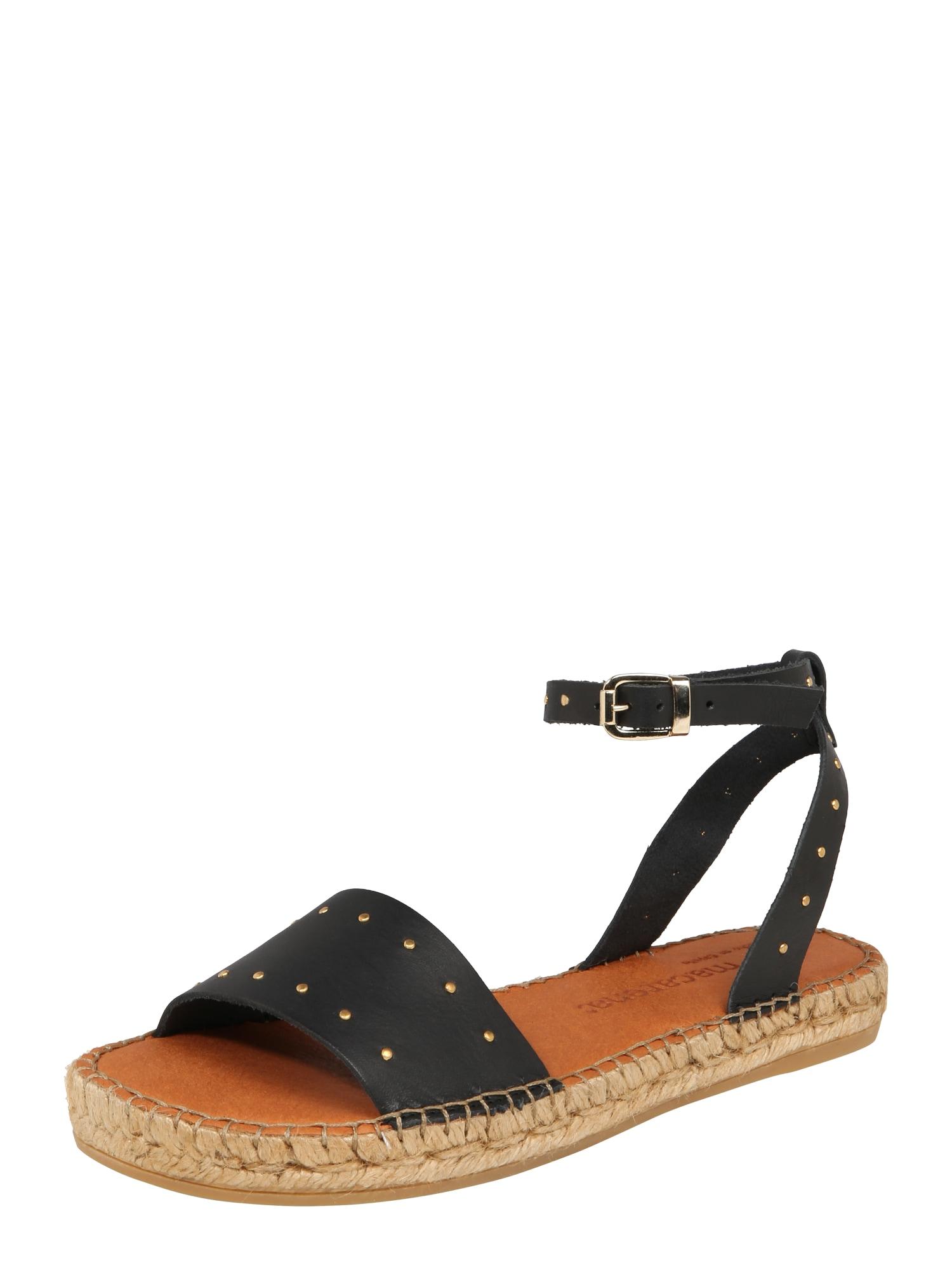 Páskové sandály Nika 16 černá MACARENA