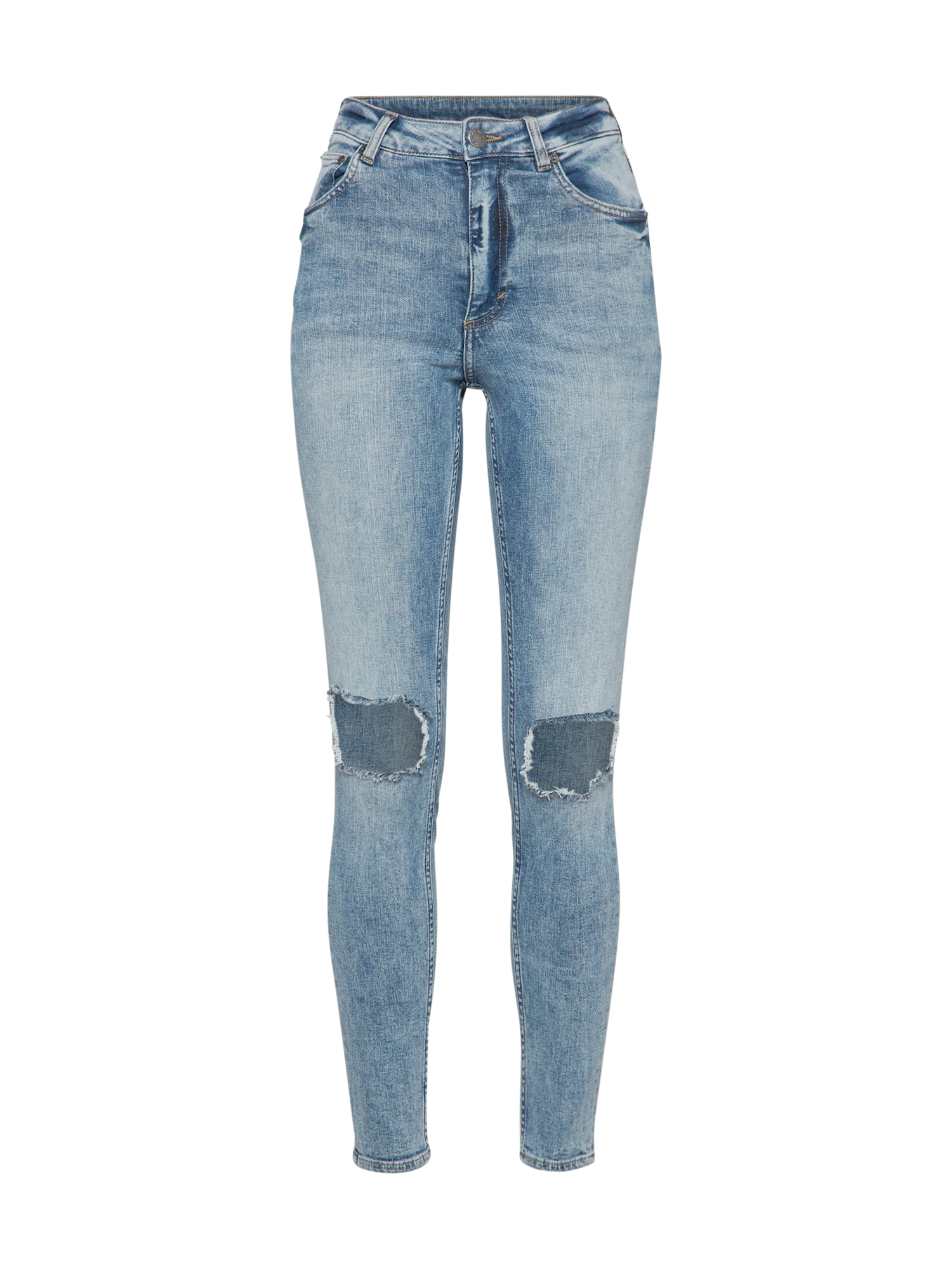 CHEAP MONDAY Dames Jeans High Skin blue denim
