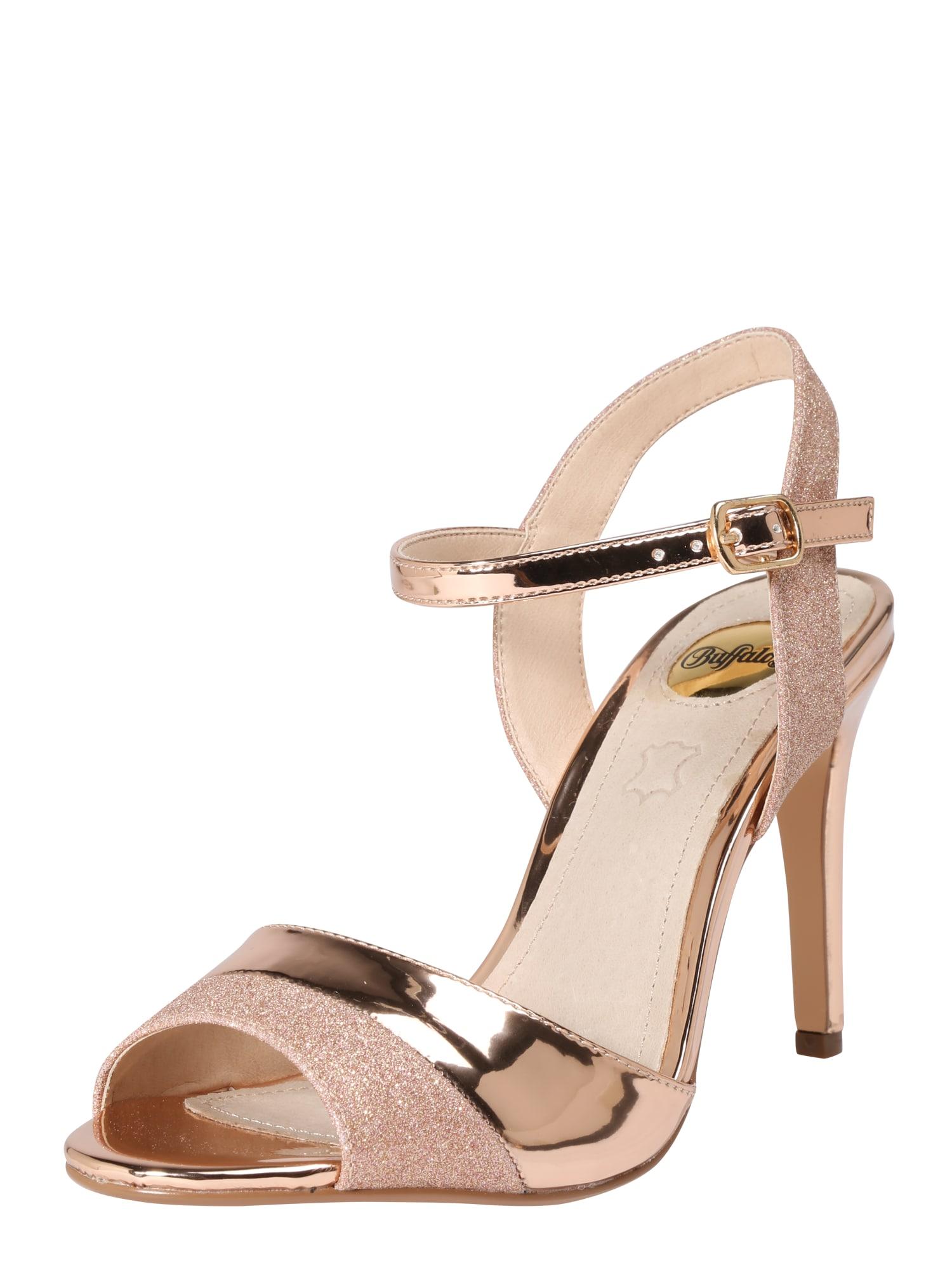 Páskové sandály AIDA zlatá růže BUFFALO