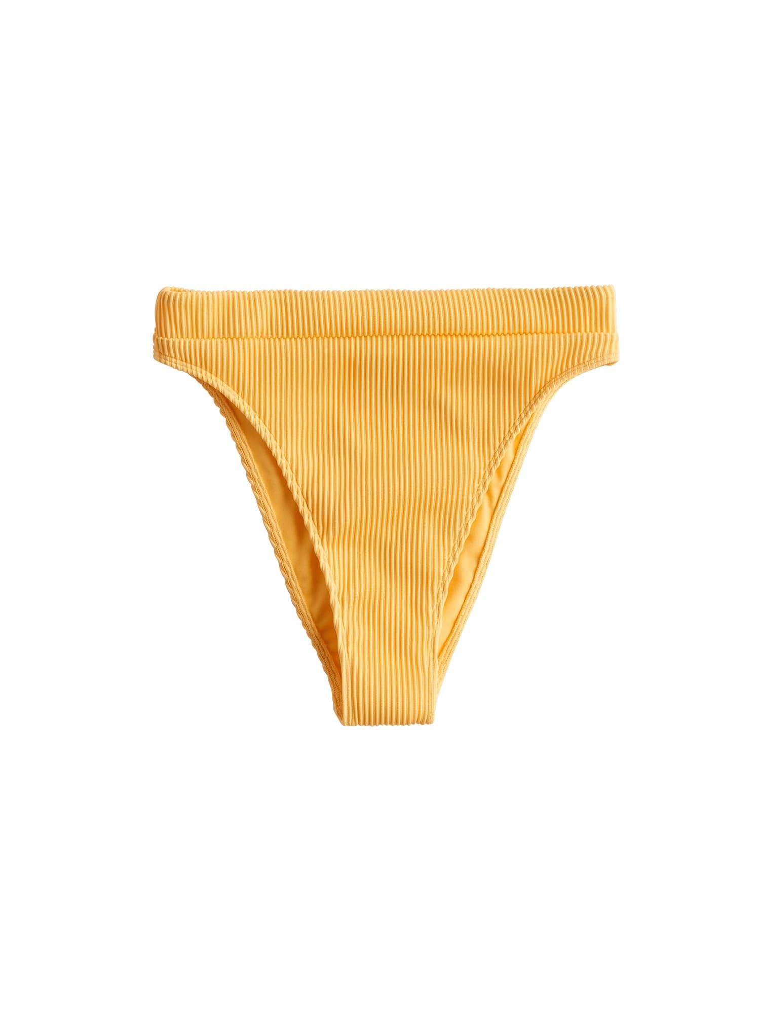 HOLLISTER Spodní díl plavek 'SP20-RIB HIGH LEG HIGH WAIST MARI 1CC'  žlutá