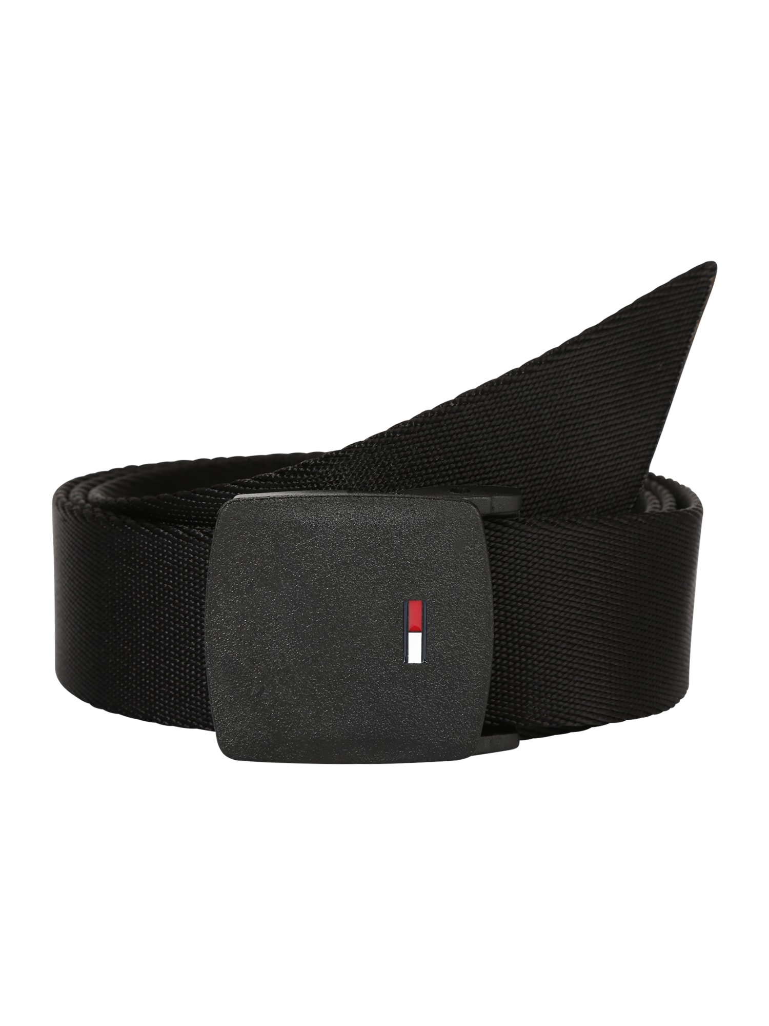 Opasek TJM PLAQUE WEBBING BELT 3.5 černá Tommy Jeans