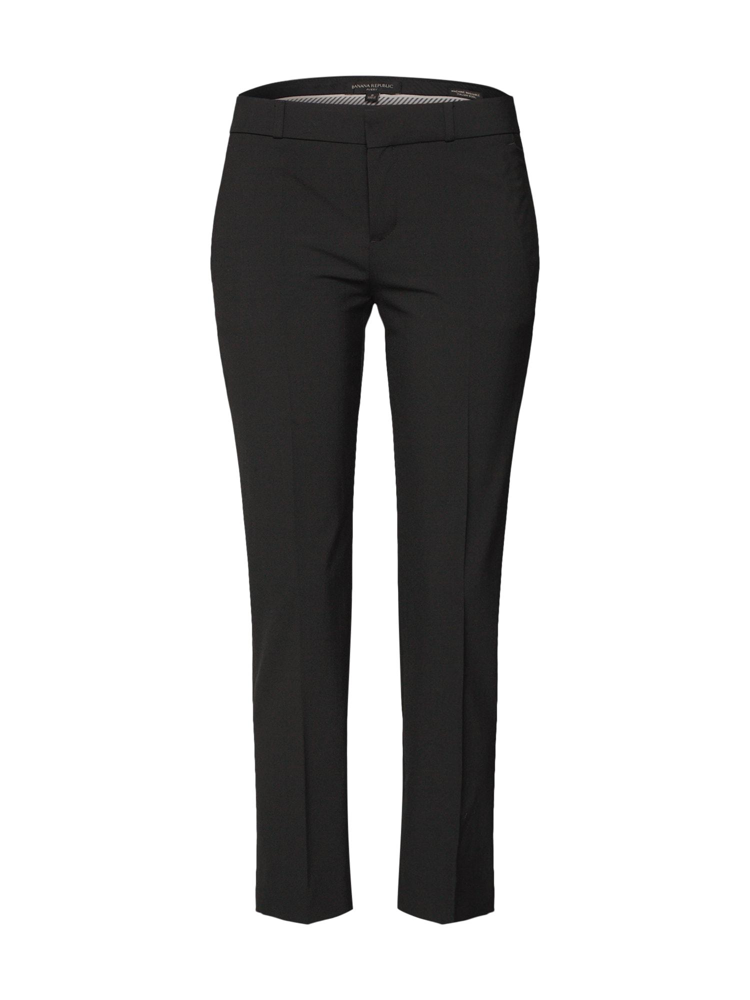Kalhoty s puky AVERY WASHABLE LWW BLACK PANT černá Banana Republic